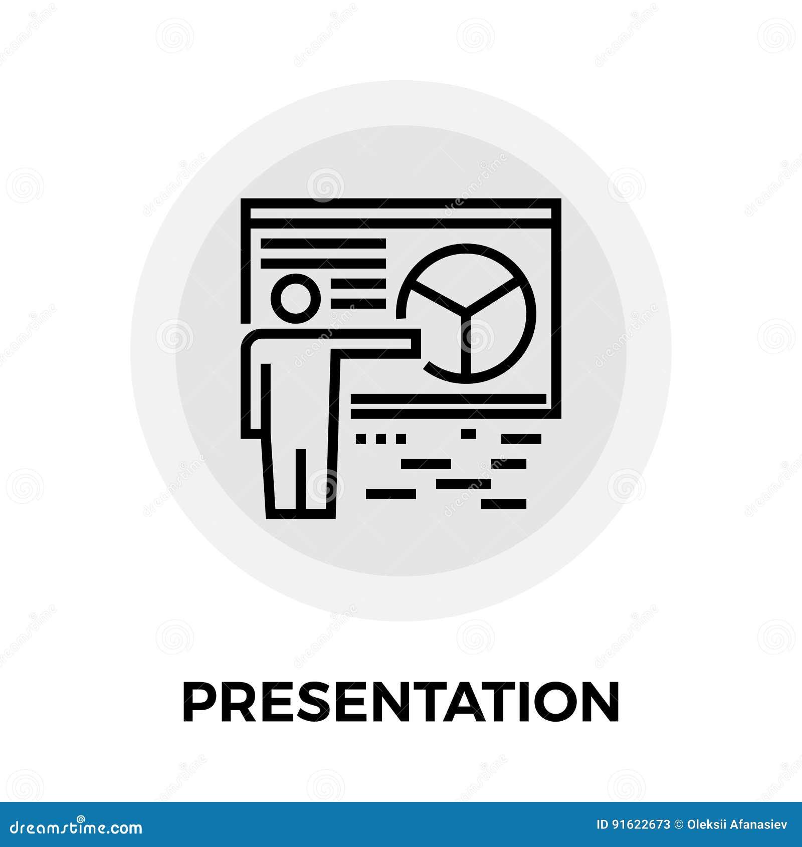 Het pictogram van de presentatielijn