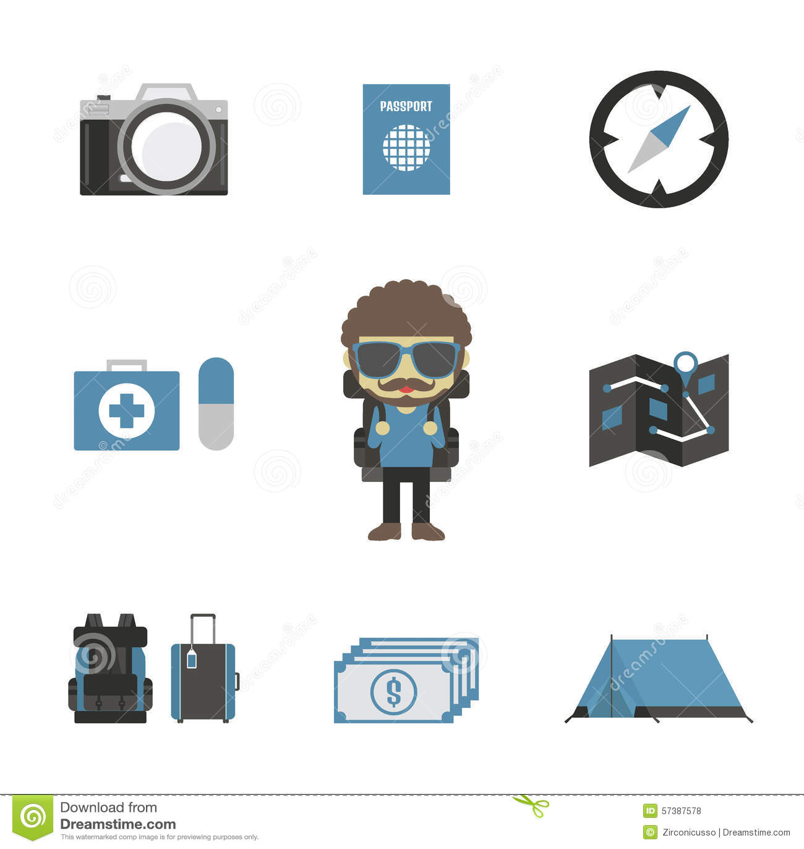 Het pictogram van de reis