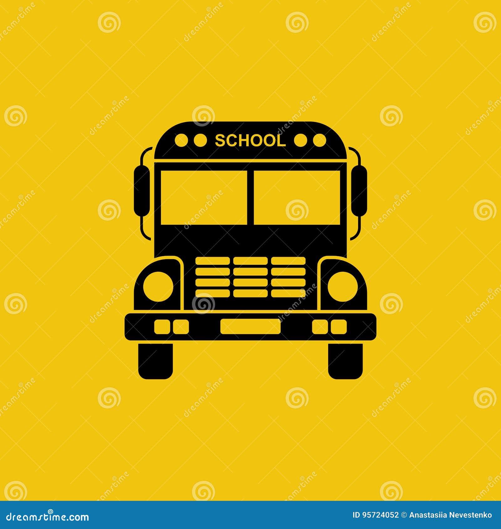 Het pictogram van de schoolbus