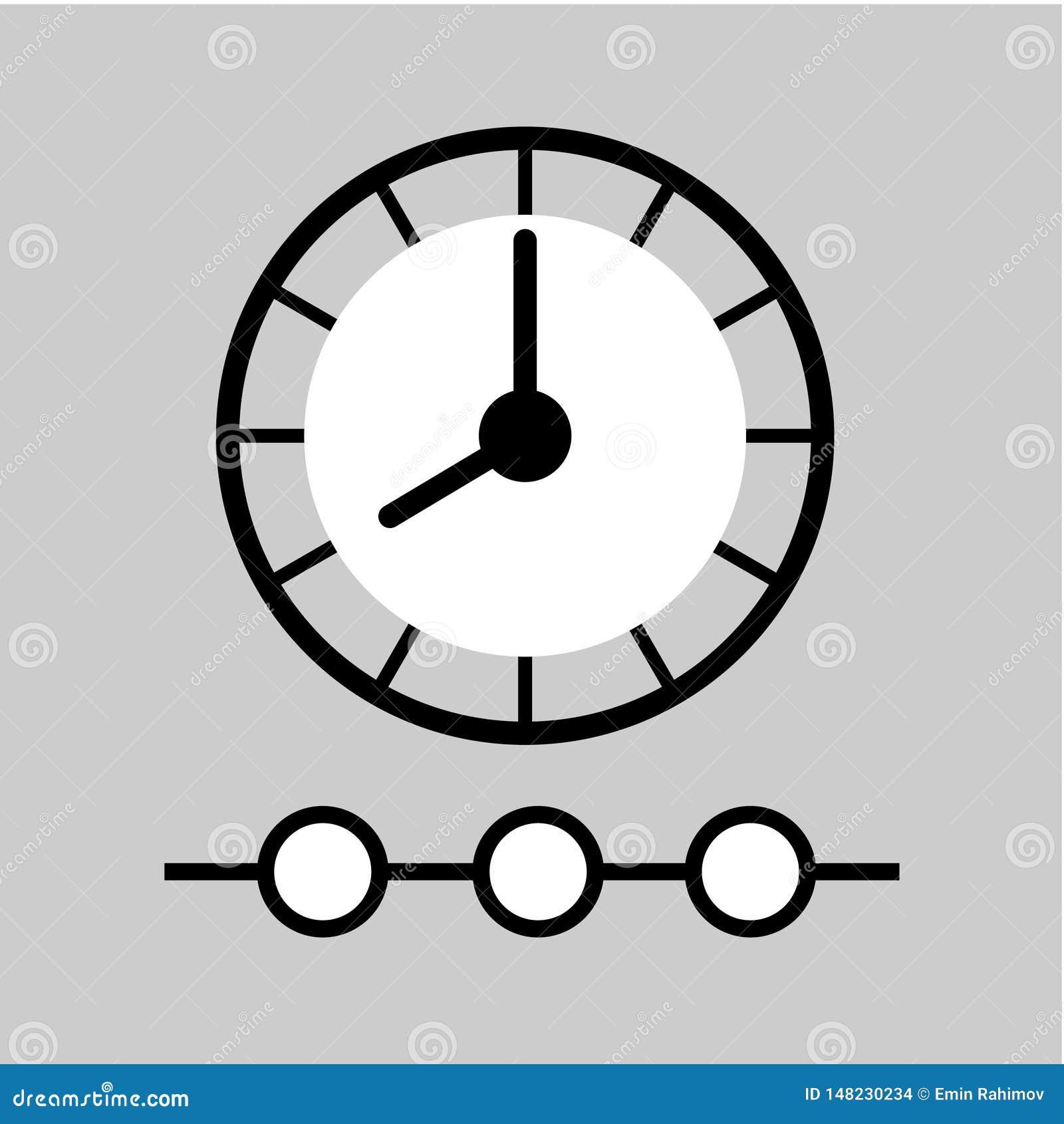 Het pictogram van de tijdlijn Het teken van het tijdbeheer