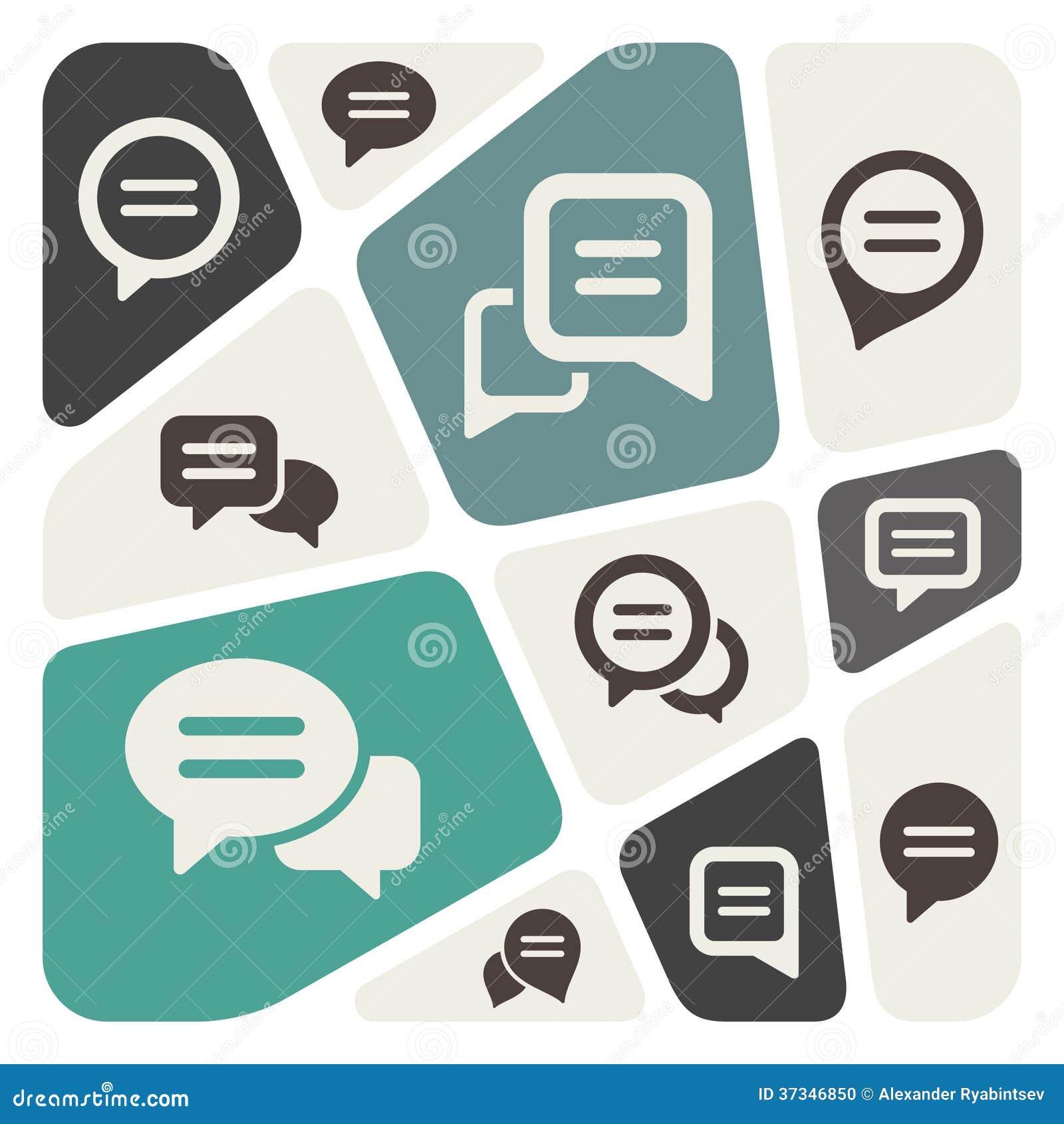 Het pictogram van de toespraakbel