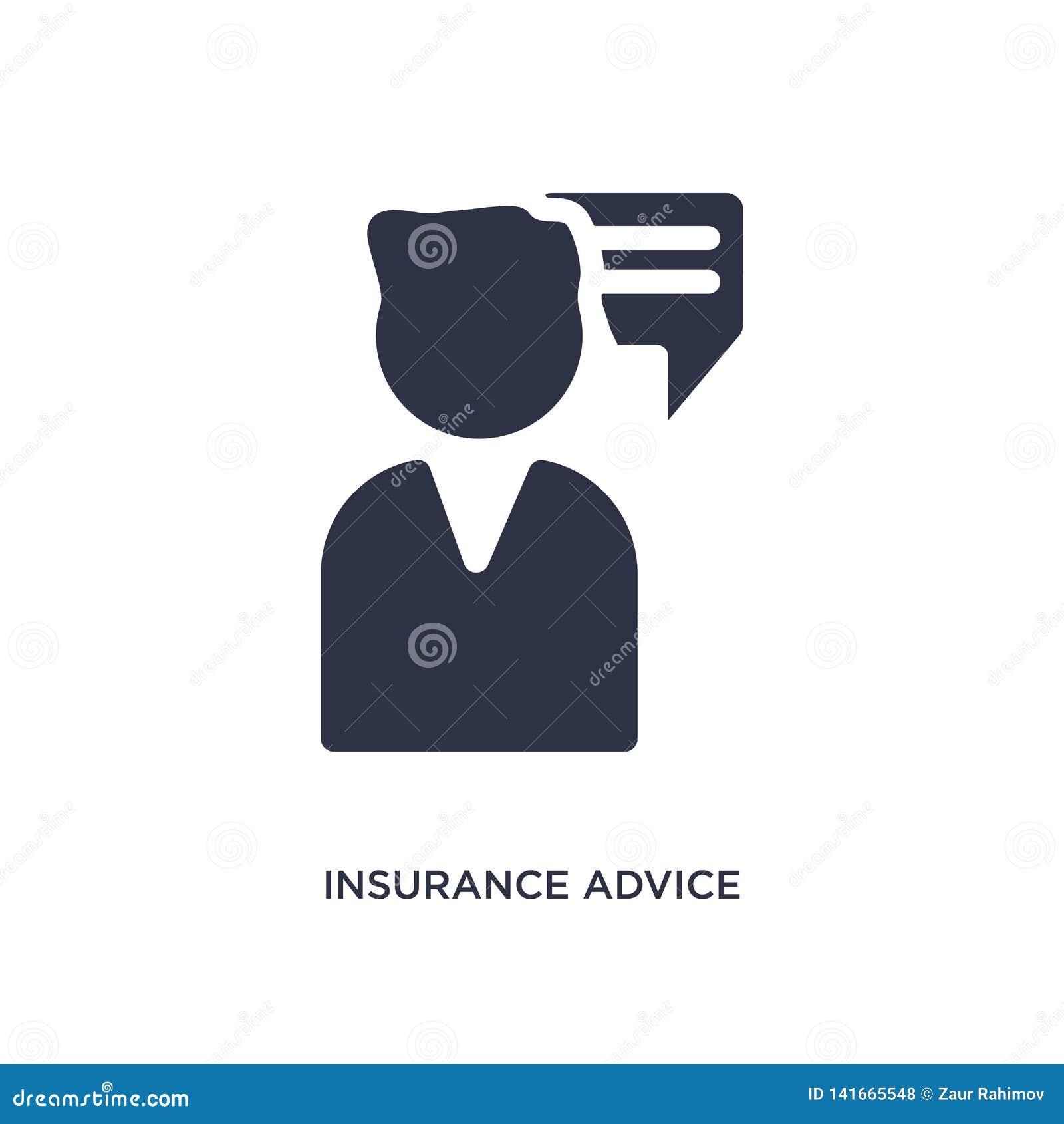 Het pictogram van de verzekeringsraad op witte achtergrond Eenvoudige elementenillustratie van verzekeringsconcept