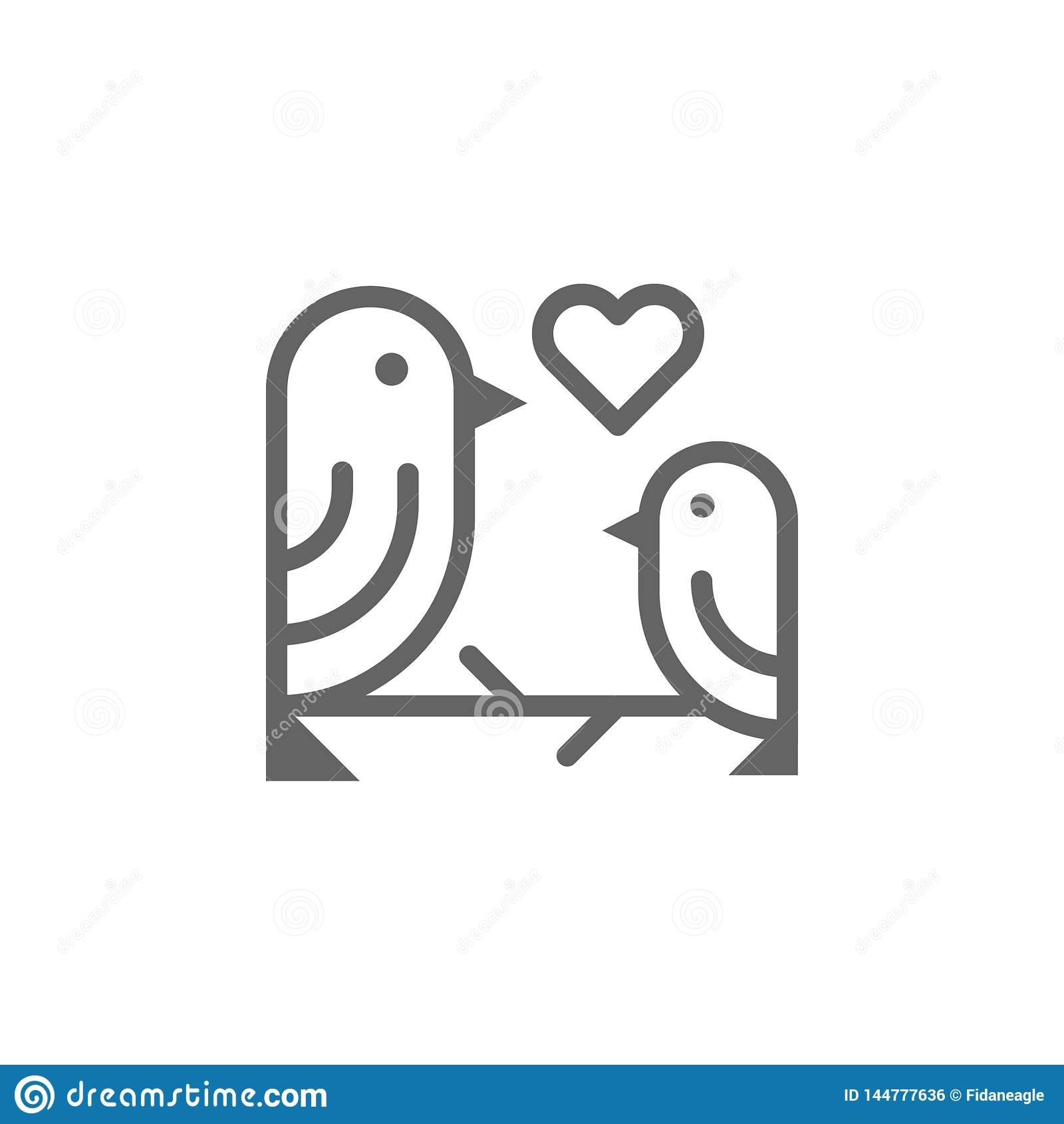 Het pictogram van het de vogelsoverzicht van de moedersdag Element van de illustratiepictogram van de moedersdag De tekens en de