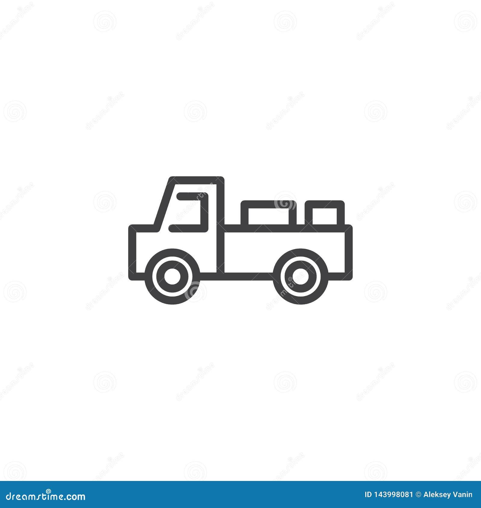 Het pictogram van de de vrachtwagenlijn van de melklevering
