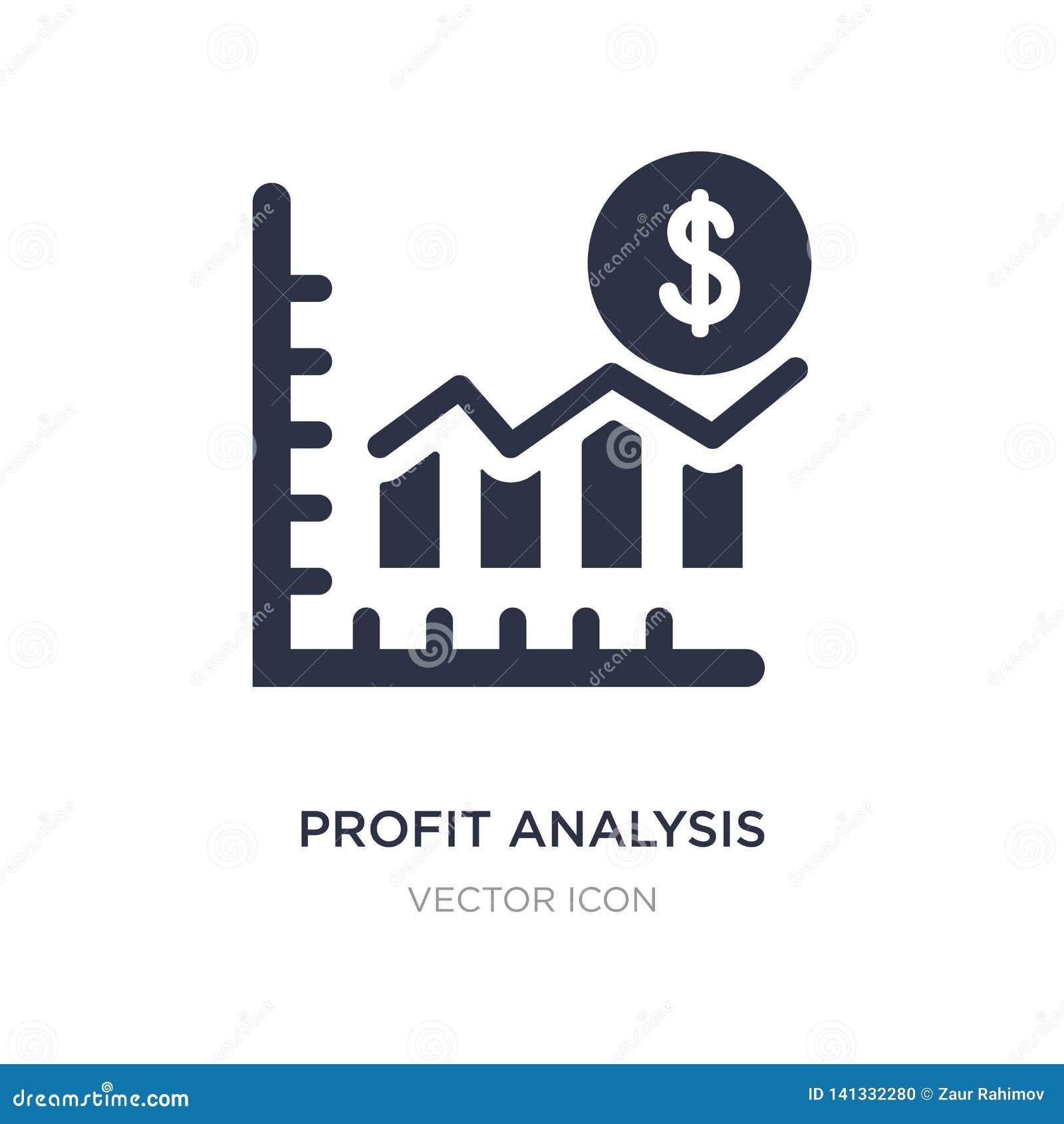 Het pictogram van de winstanalyse op witte achtergrond Eenvoudige elementenillustratie van Bedrijfs en analyticsconcept