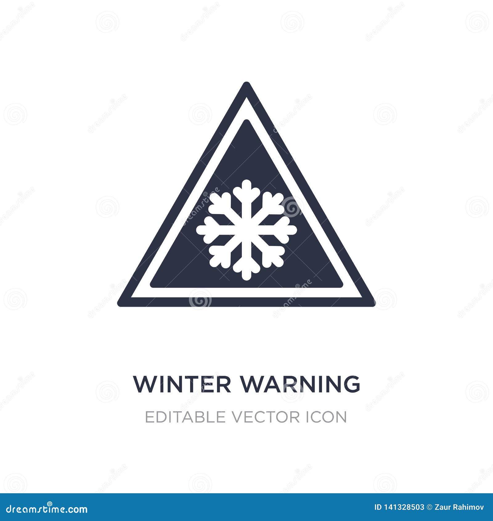 Het pictogram van de de winterwaarschuwing op witte achtergrond Eenvoudige elementenillustratie van Weerconcept