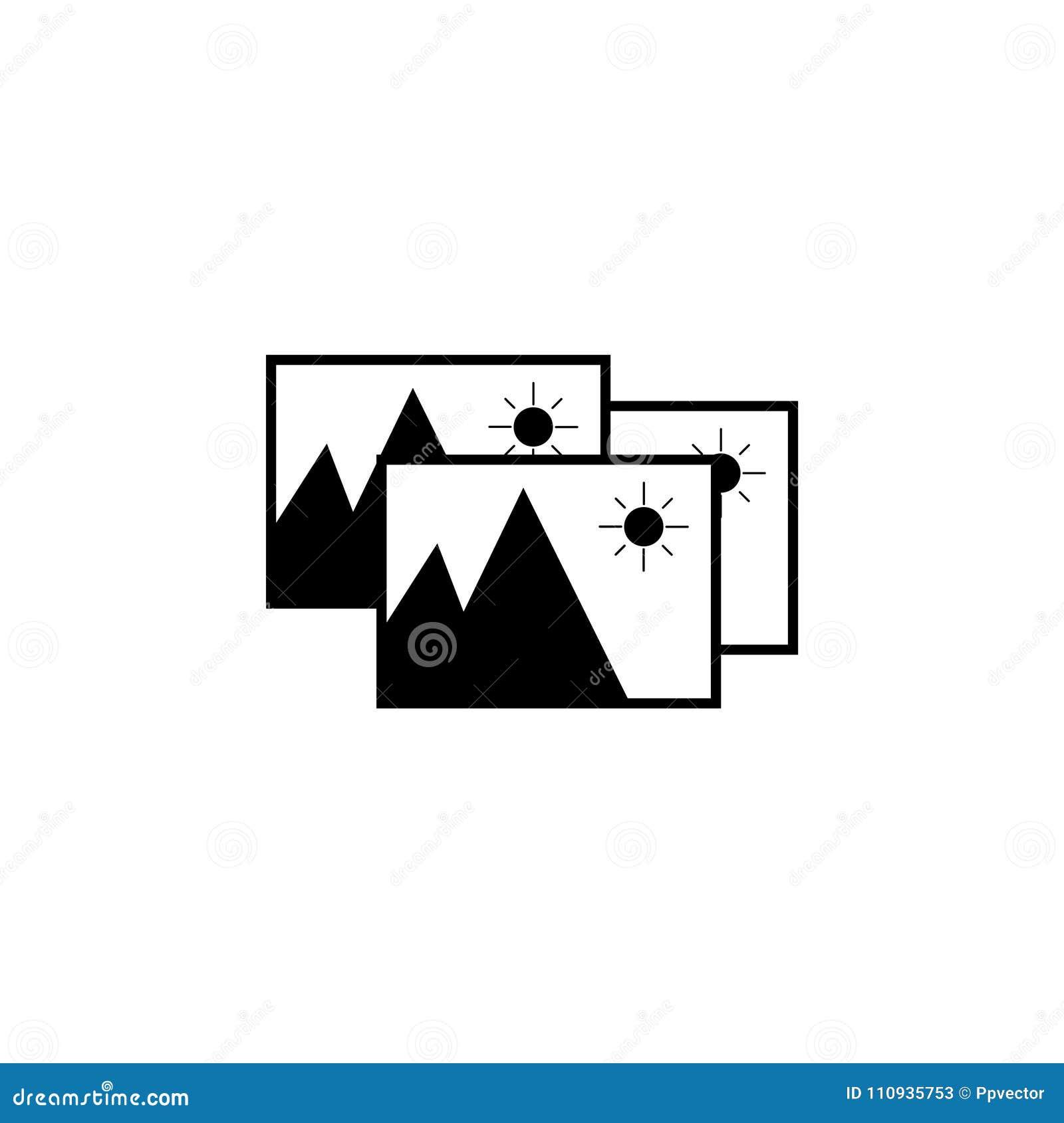 Het pictogram van het fotoarchief Vector