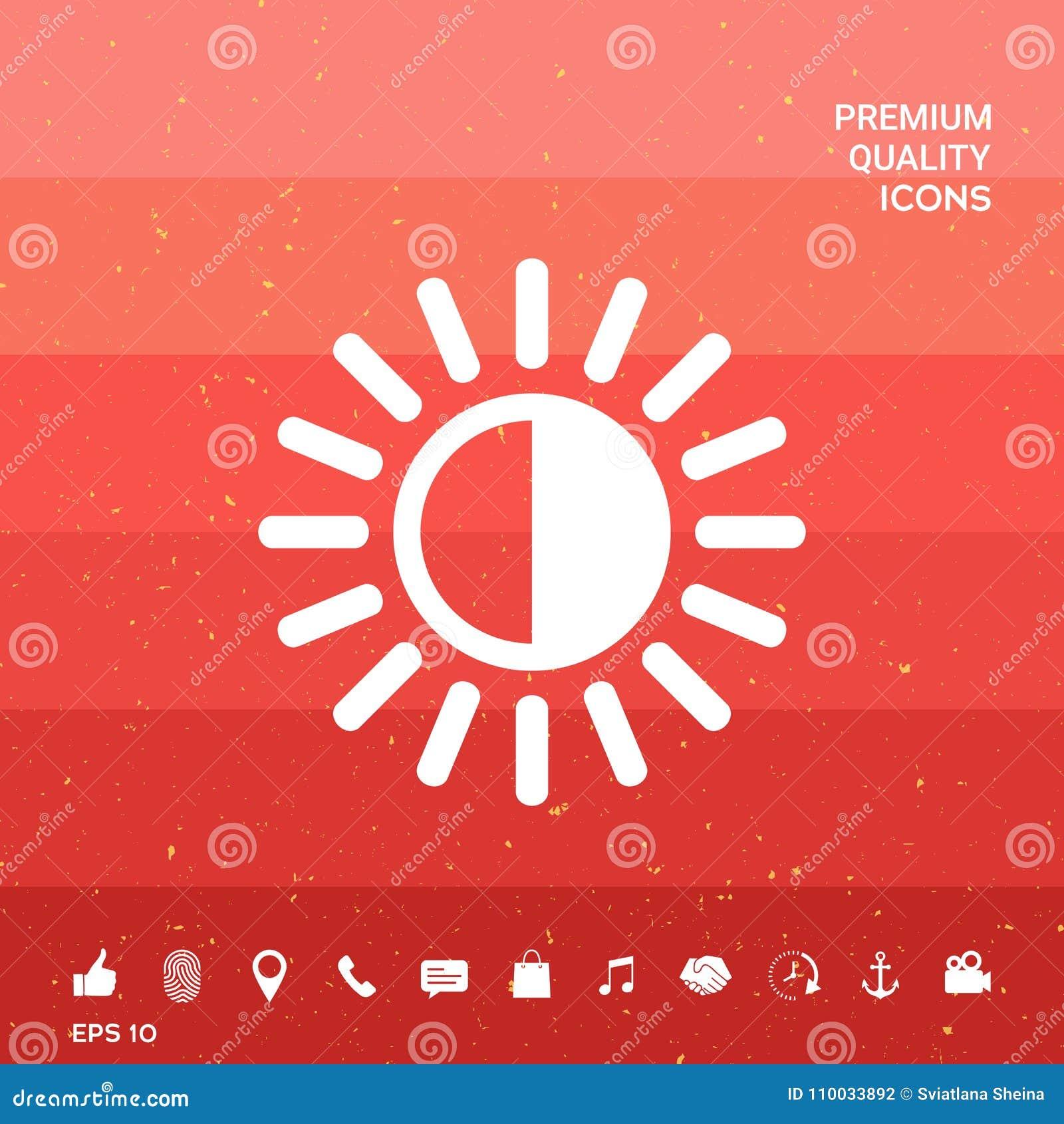 Het pictogram van het helderheidssymbool