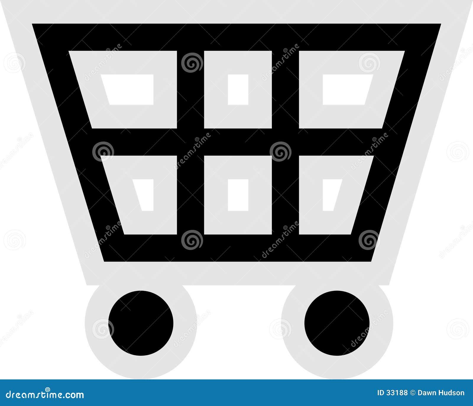 Het Pictogram van het boodschappenwagentje