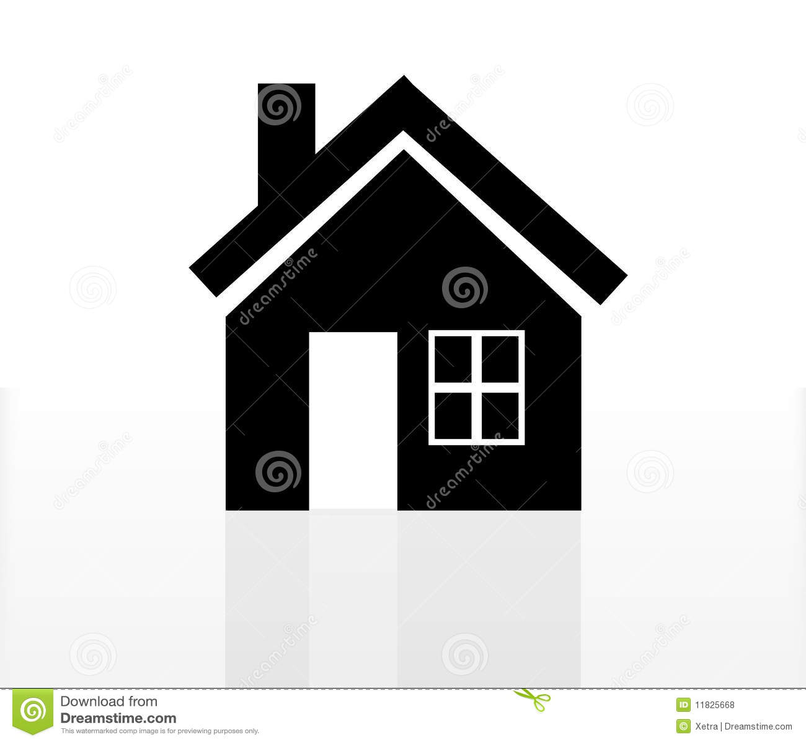 Het pictogram van het huis vector illustratie afbeelding bestaande uit echt 11825668 - Fotos van eigentijds huis ...