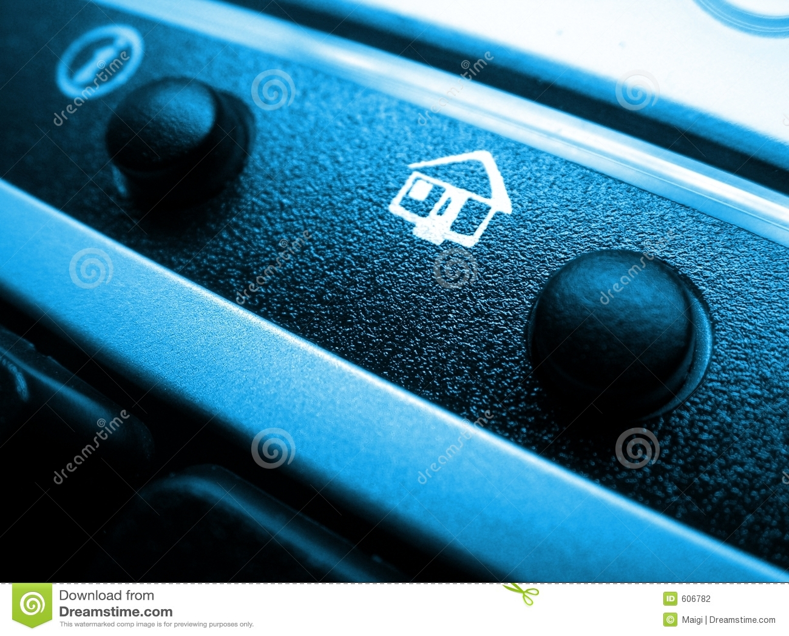Het pictogram van het huis op toetsenbord