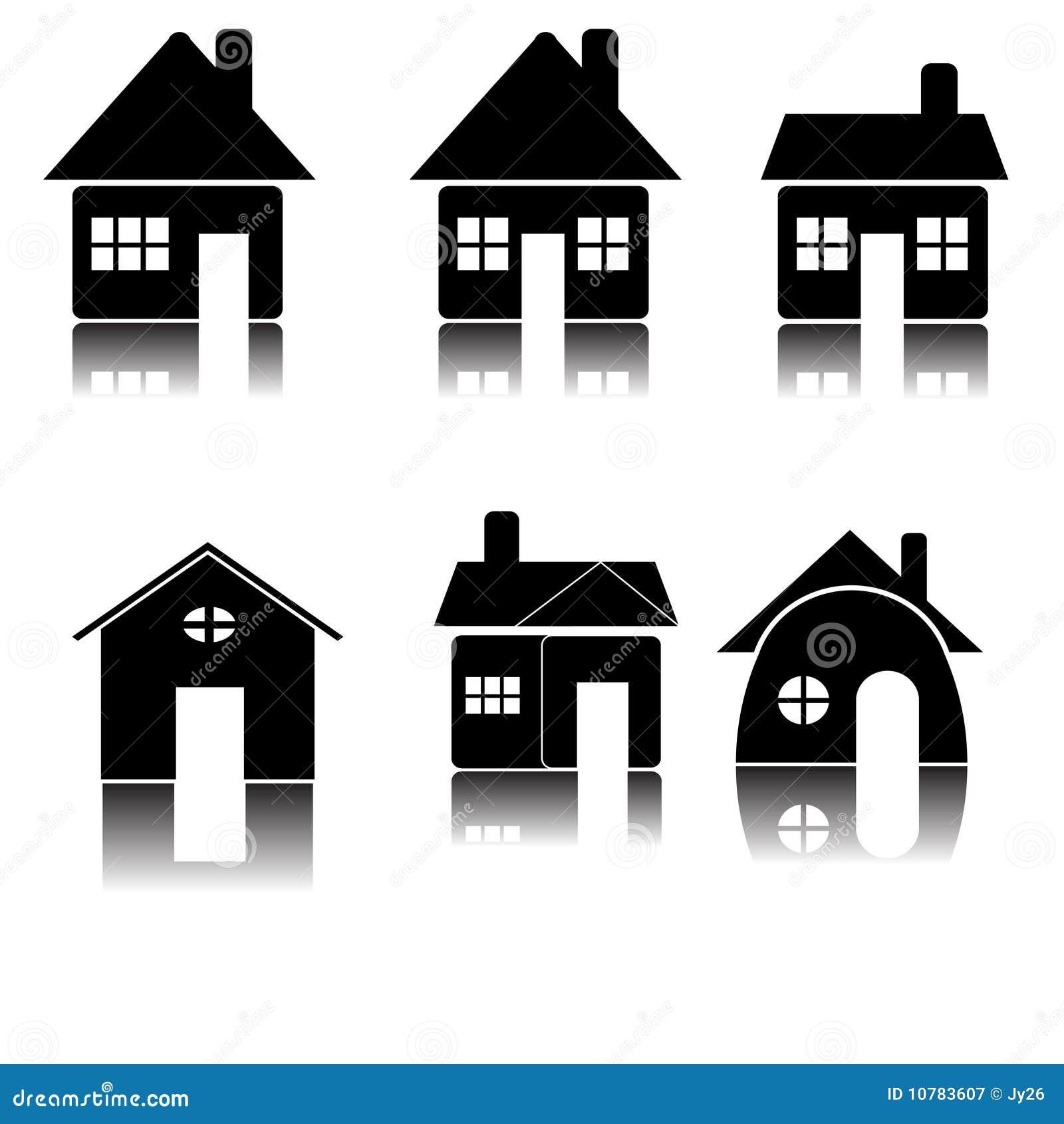 Het pictogram van het huis (vector)