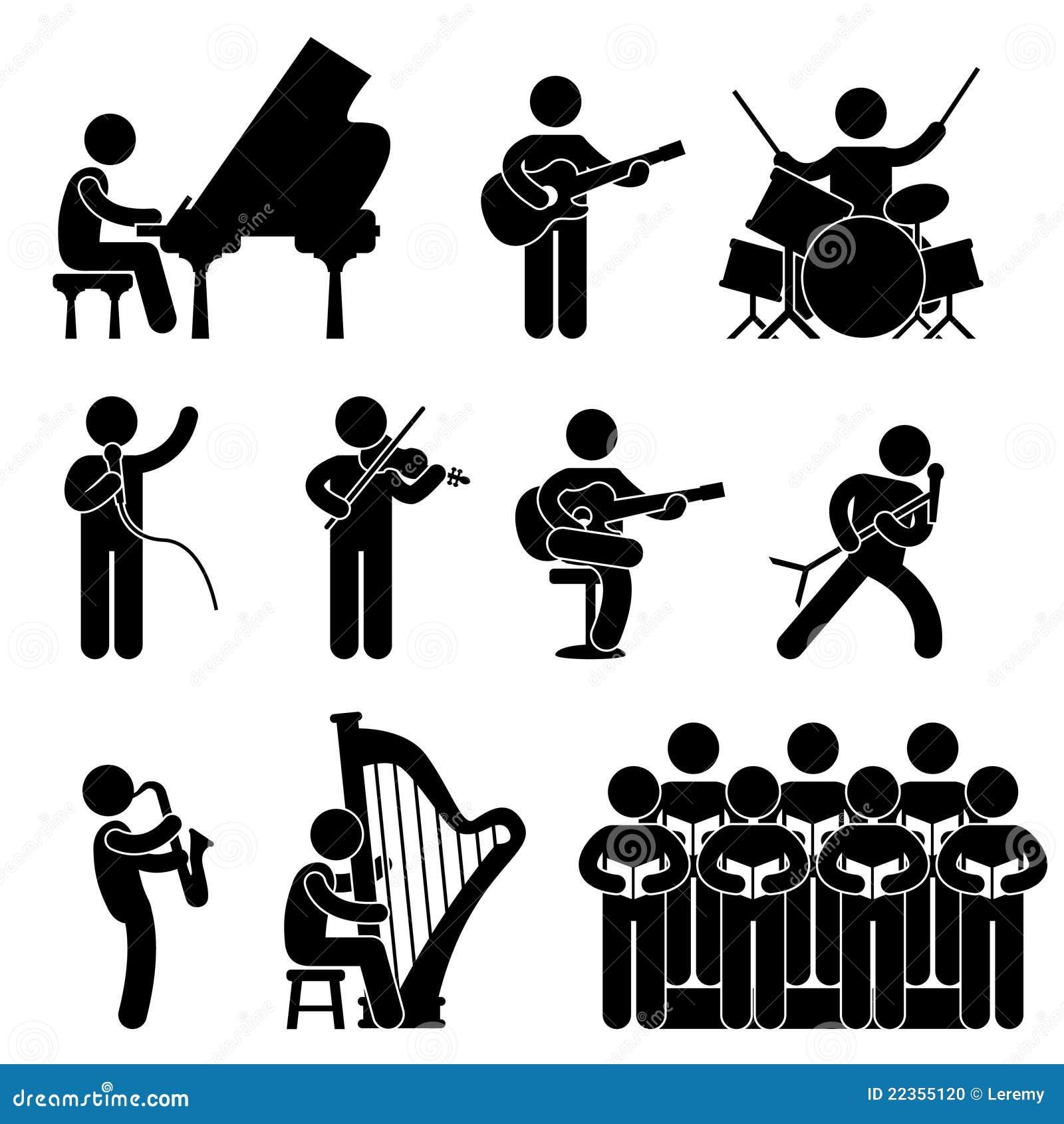 Het Pictogram van het Koor van het Overleg van de Pianist van de musicus