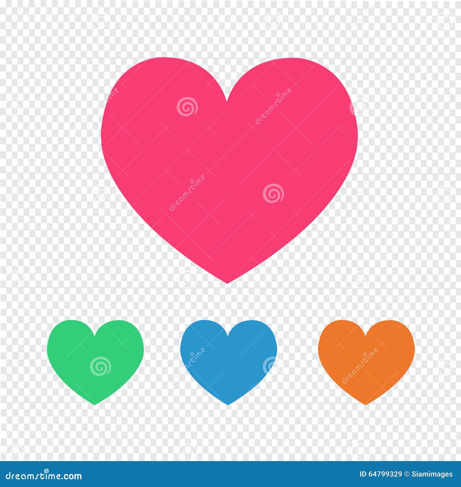 Het pictogram van het liefdehart