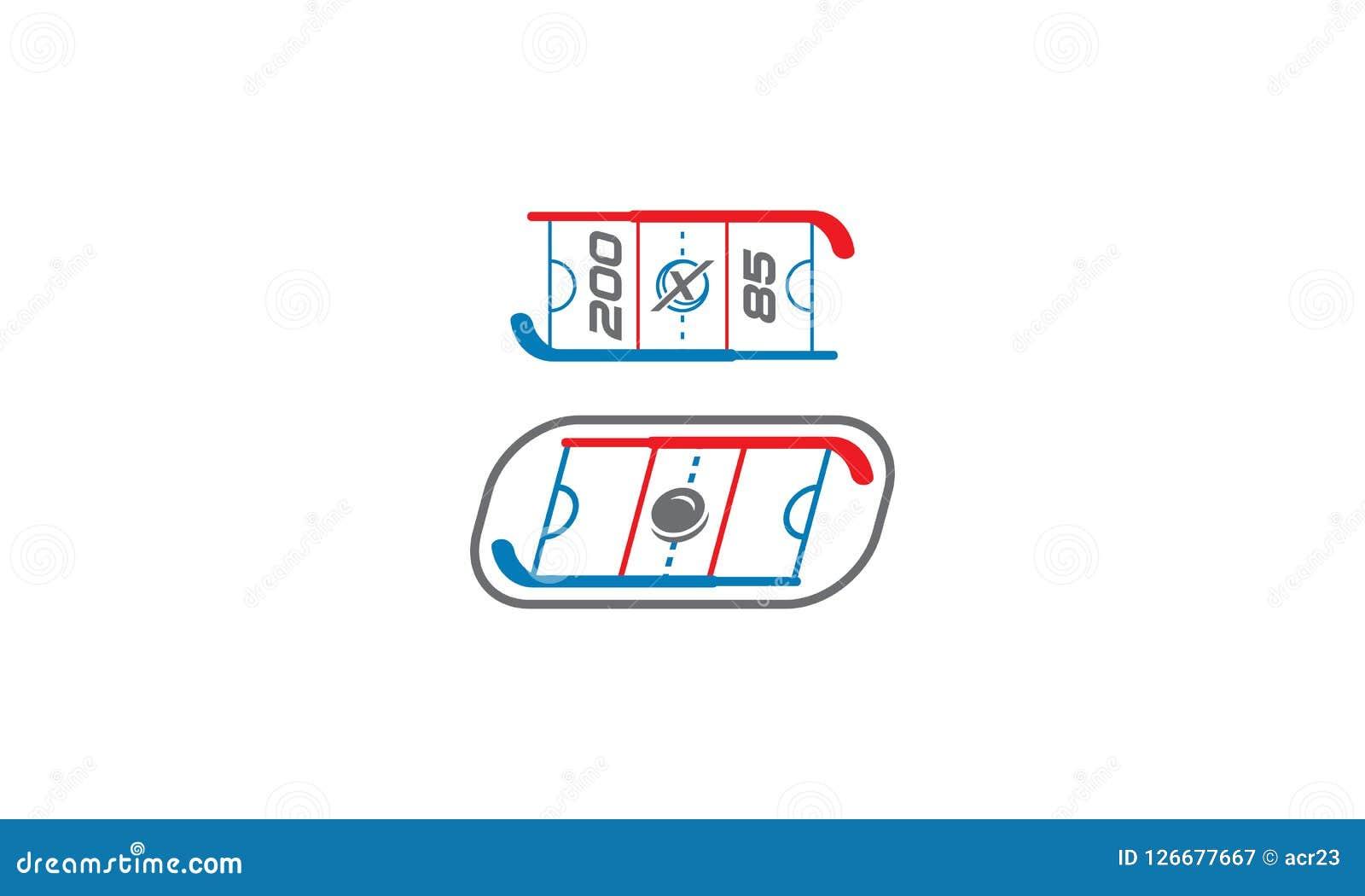 Het pictogram van hockeylogo vector