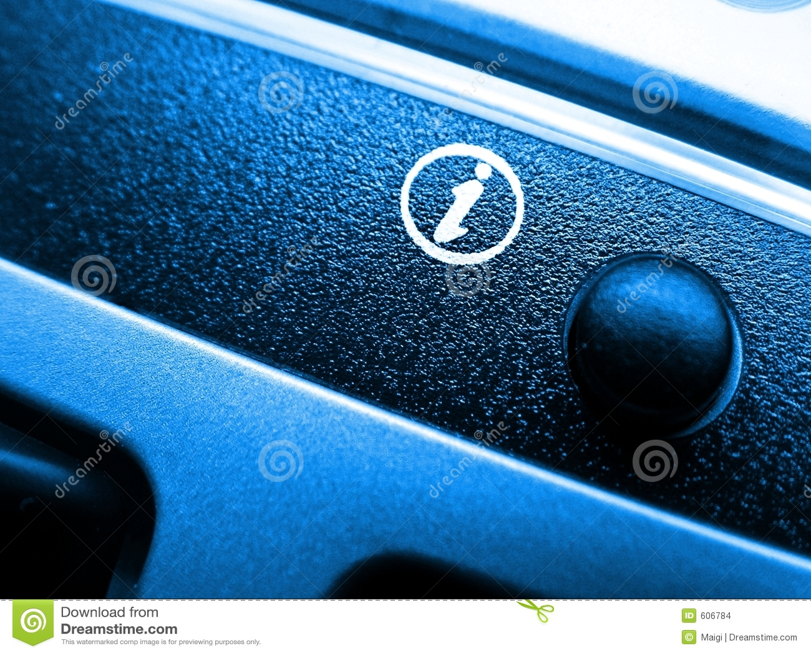 Het pictogram van info op toetsenbord