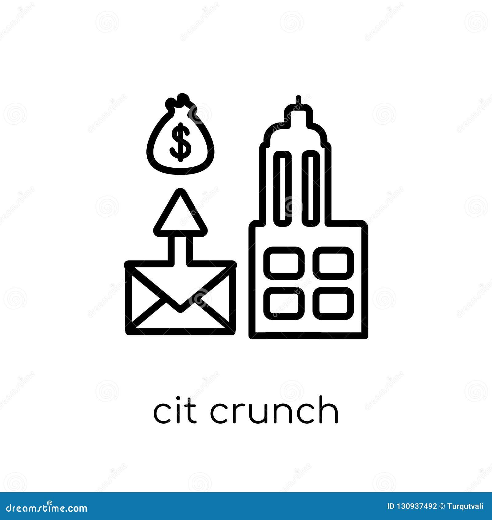 Het pictogram van het kredietkraken