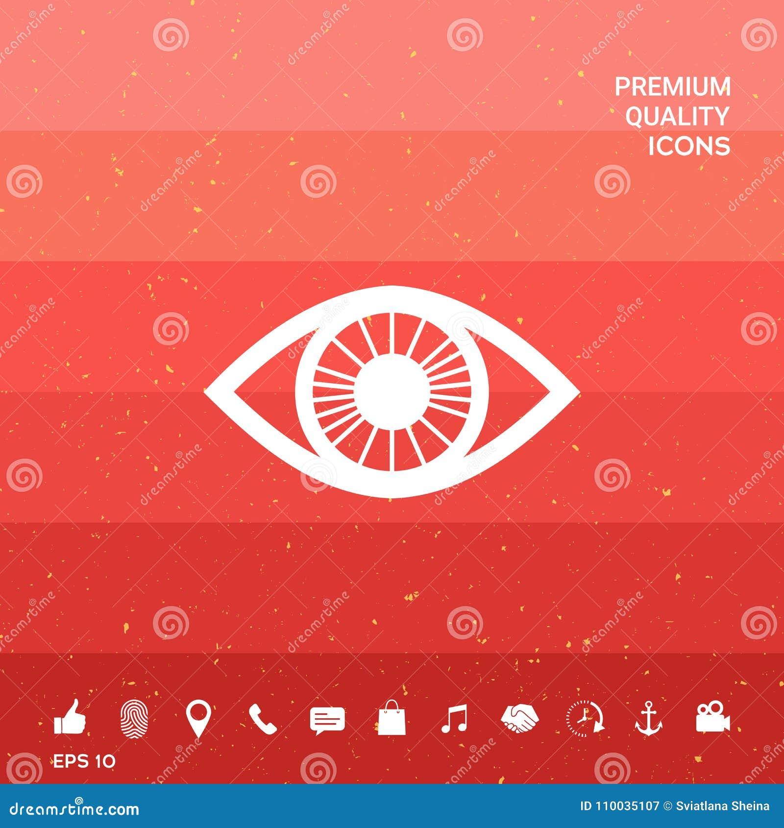 Het pictogram van het oogsymbool