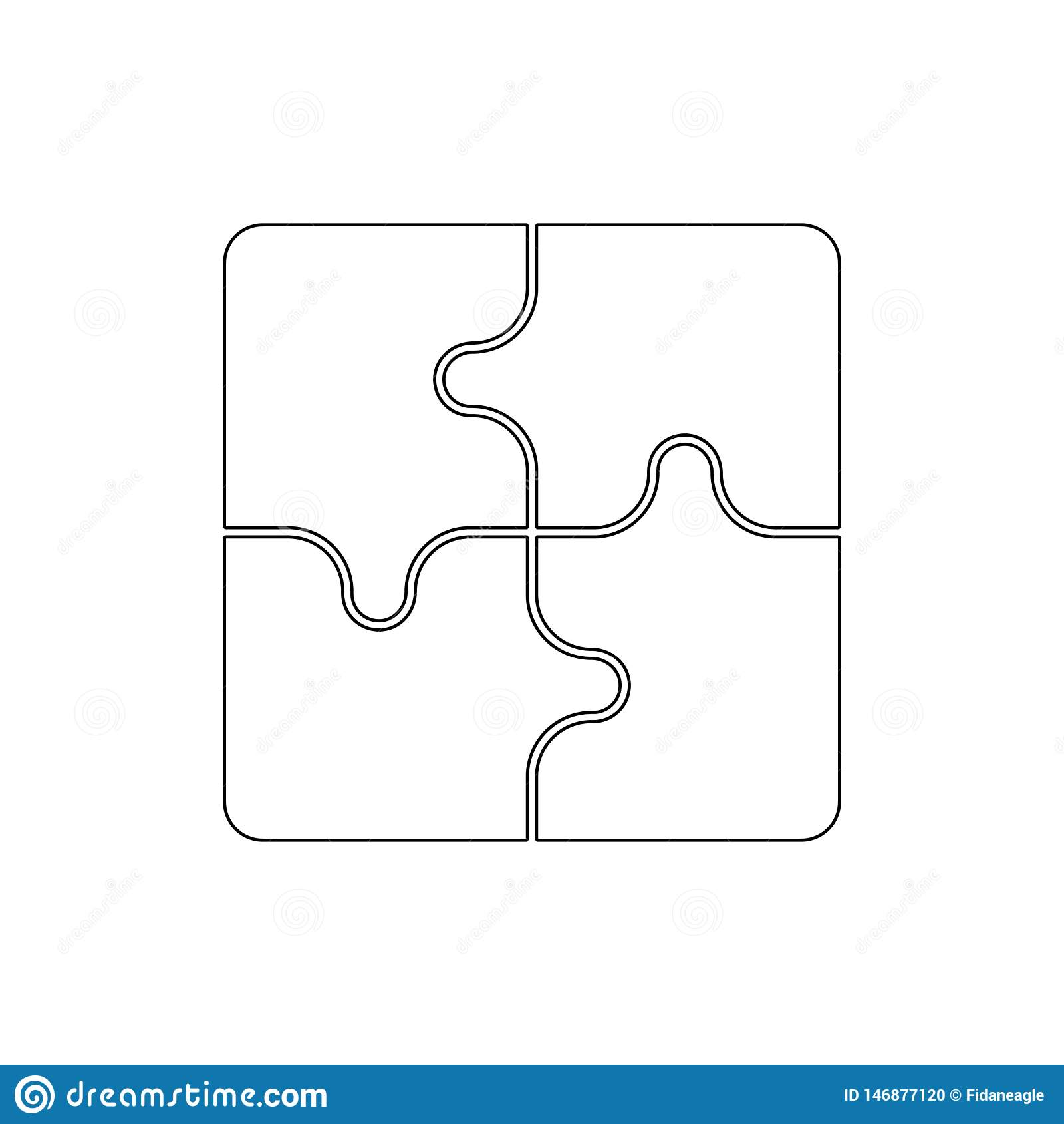 Het pictogram van het raadseloverzicht De tekens en de symbolen kunnen voor Web, embleem, mobiele toepassing, UI, UX worden gebru