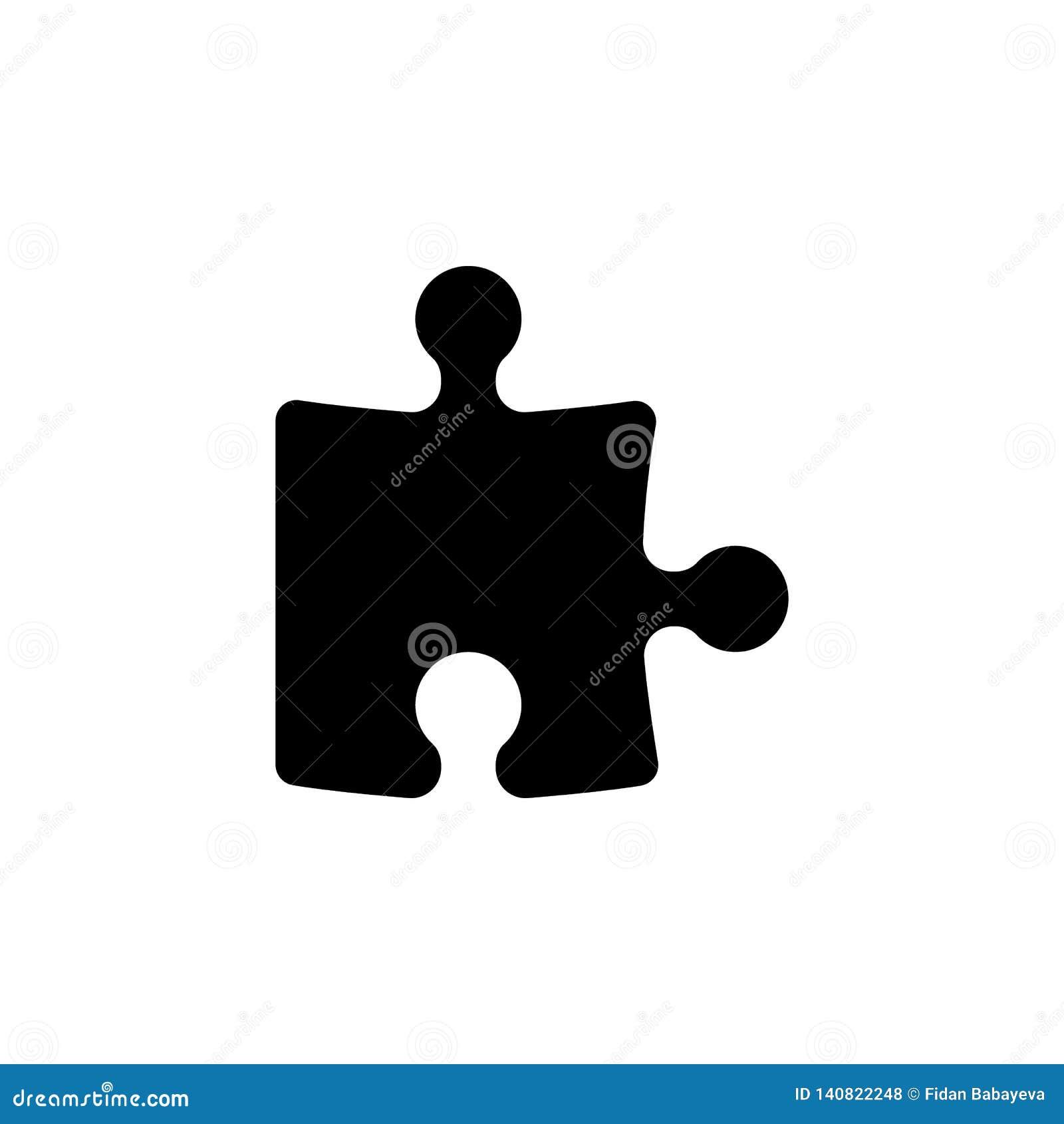 Het pictogram van het raadselstuk De tekens en de symbolen kunnen voor Web, embleem, mobiele toepassing, UI, UX worden gebruikt