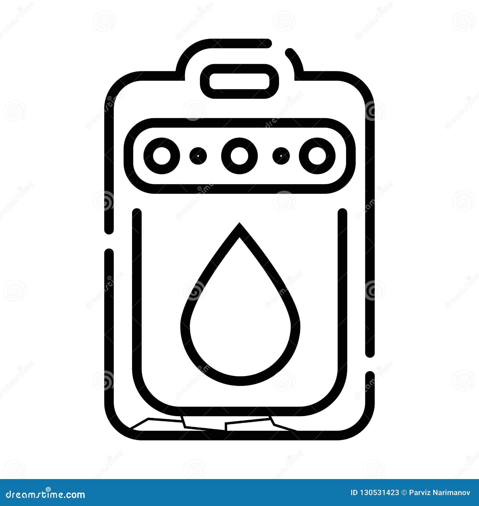Het pictogram van het rioleringssysteem
