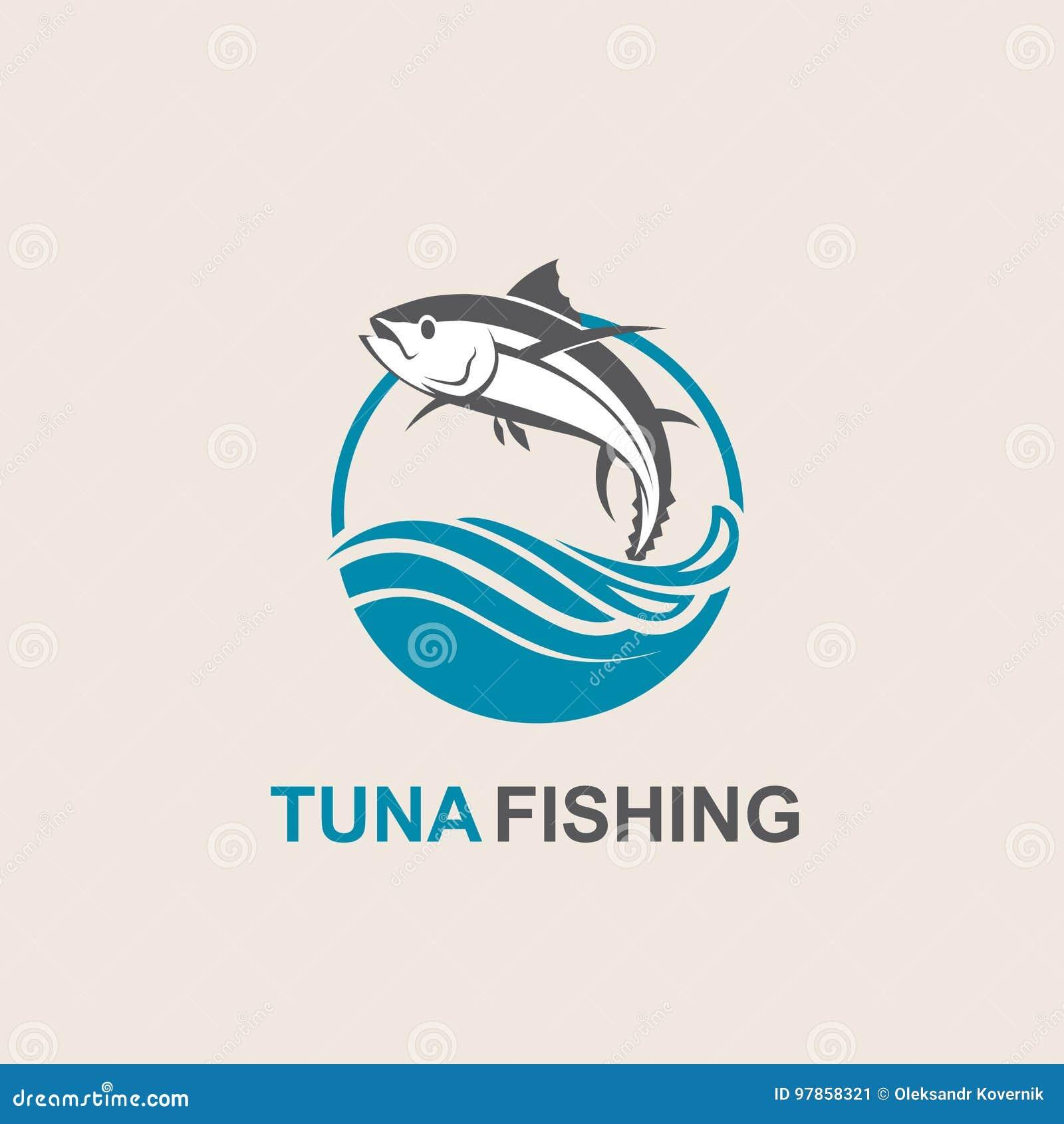 Het pictogram van tonijnvissen