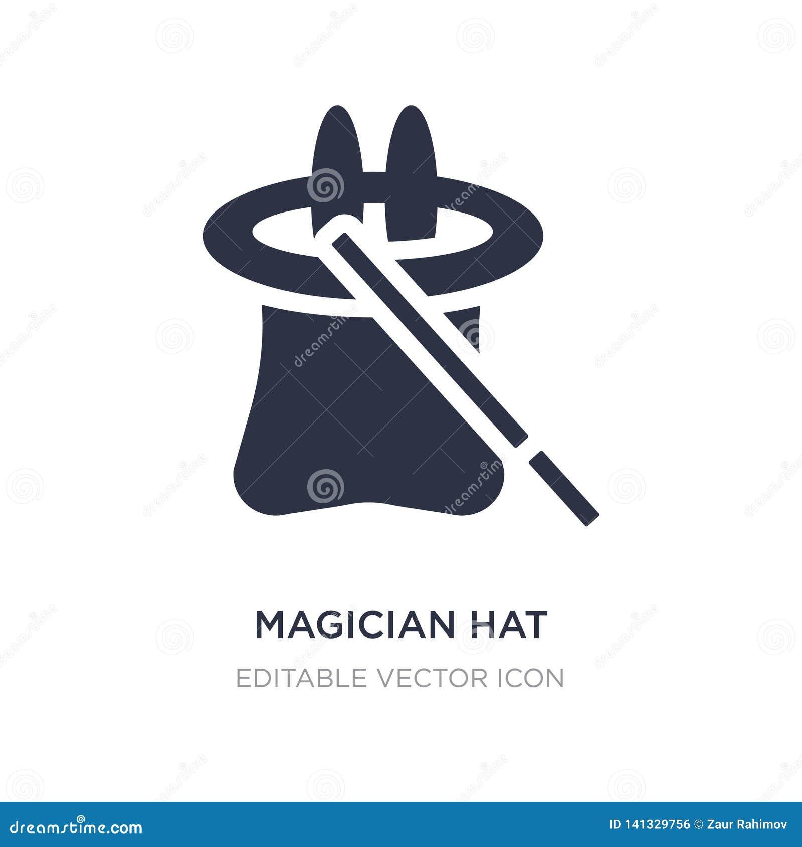 Het pictogram van tovenaarHat op witte achtergrond Eenvoudige elementenillustratie van Halloween-concept