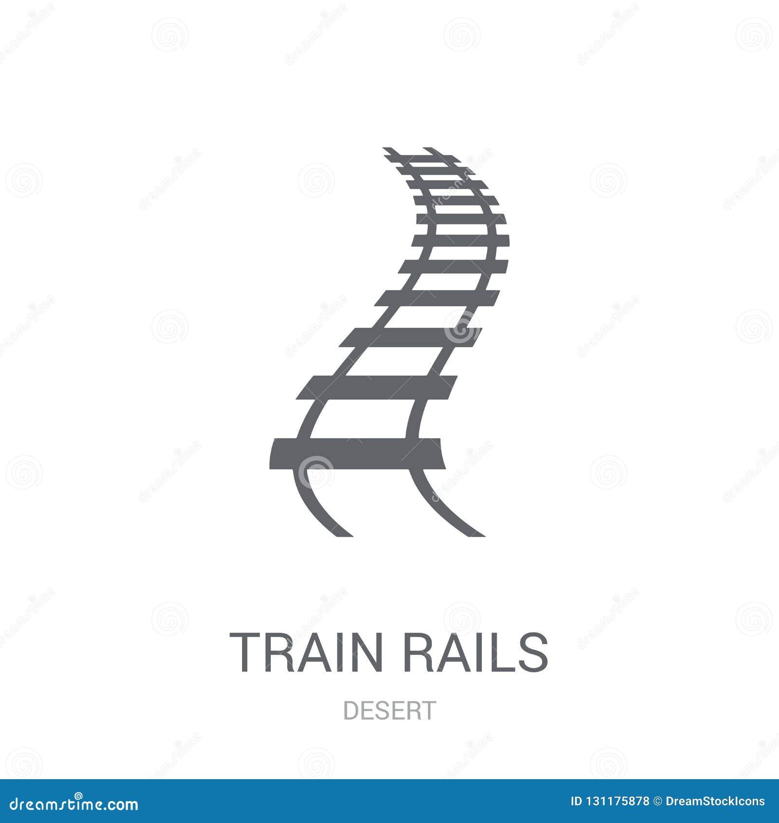 Het pictogram van treinsporen In het embleemconcept van Treinsporen op witte backg