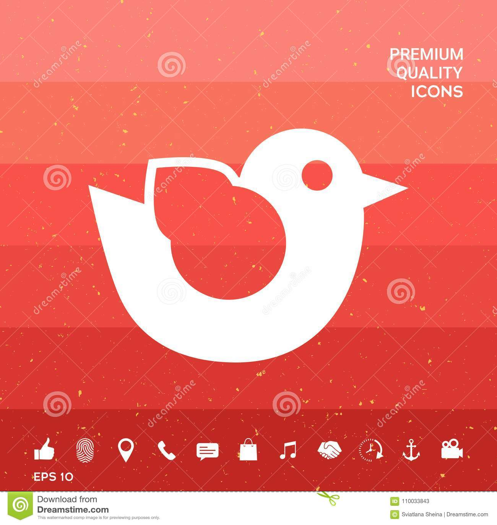 Het pictogram van het vogelsymbool