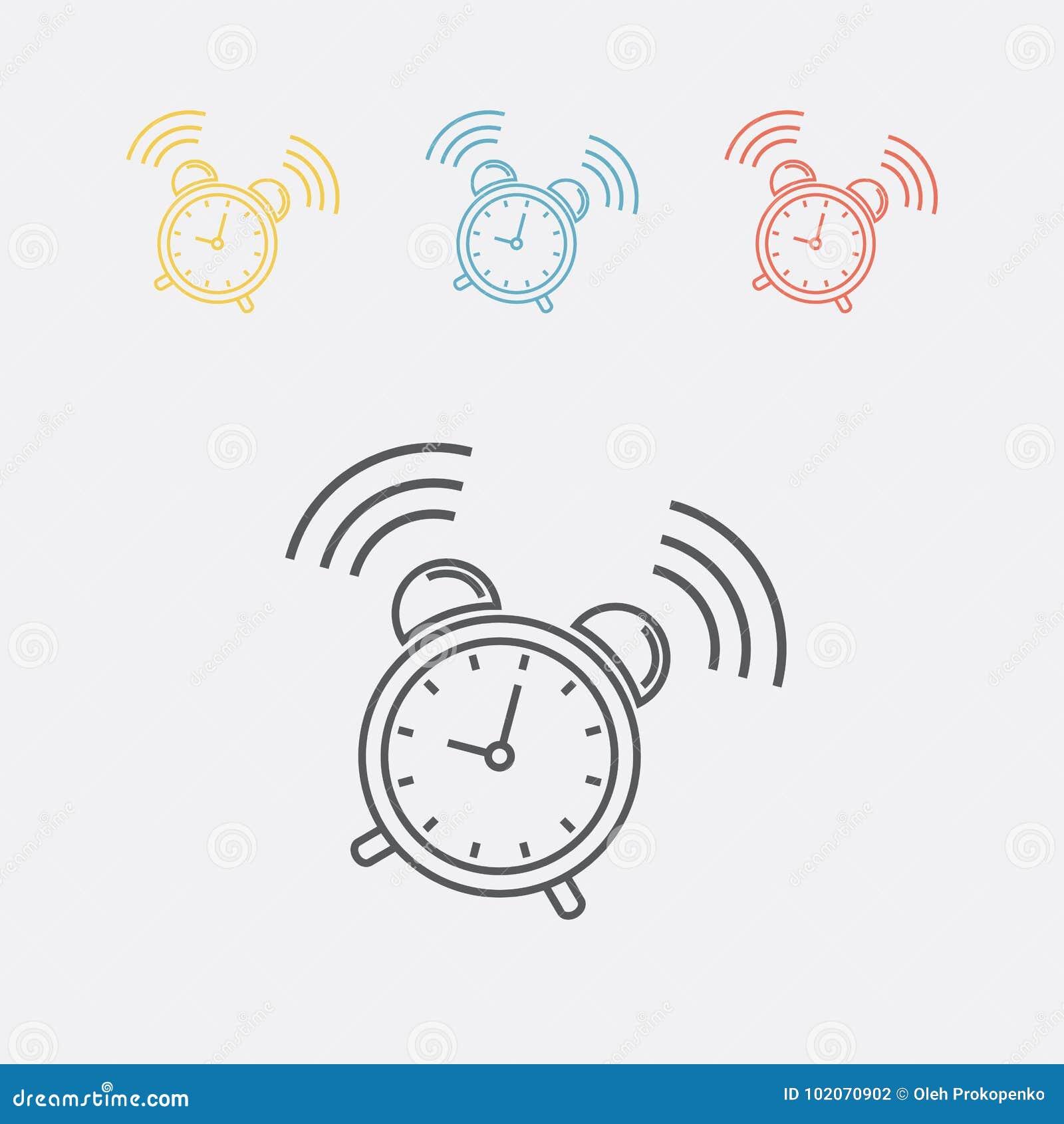 Het pictogram van het wekkerteken Kielzog op alarmsymbool
