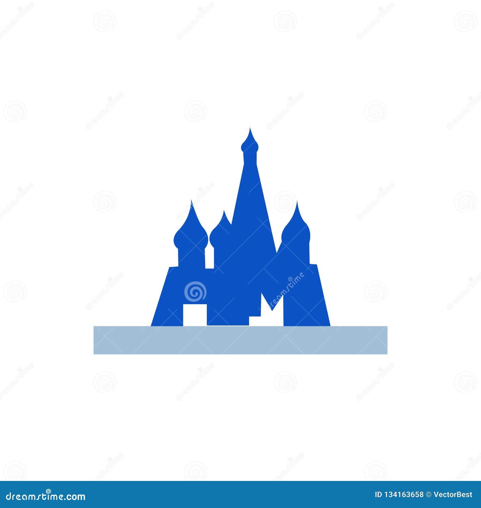 Het pictogram vectordieteken en symbool van Moskou op witte achtergrond wordt geïsoleerd