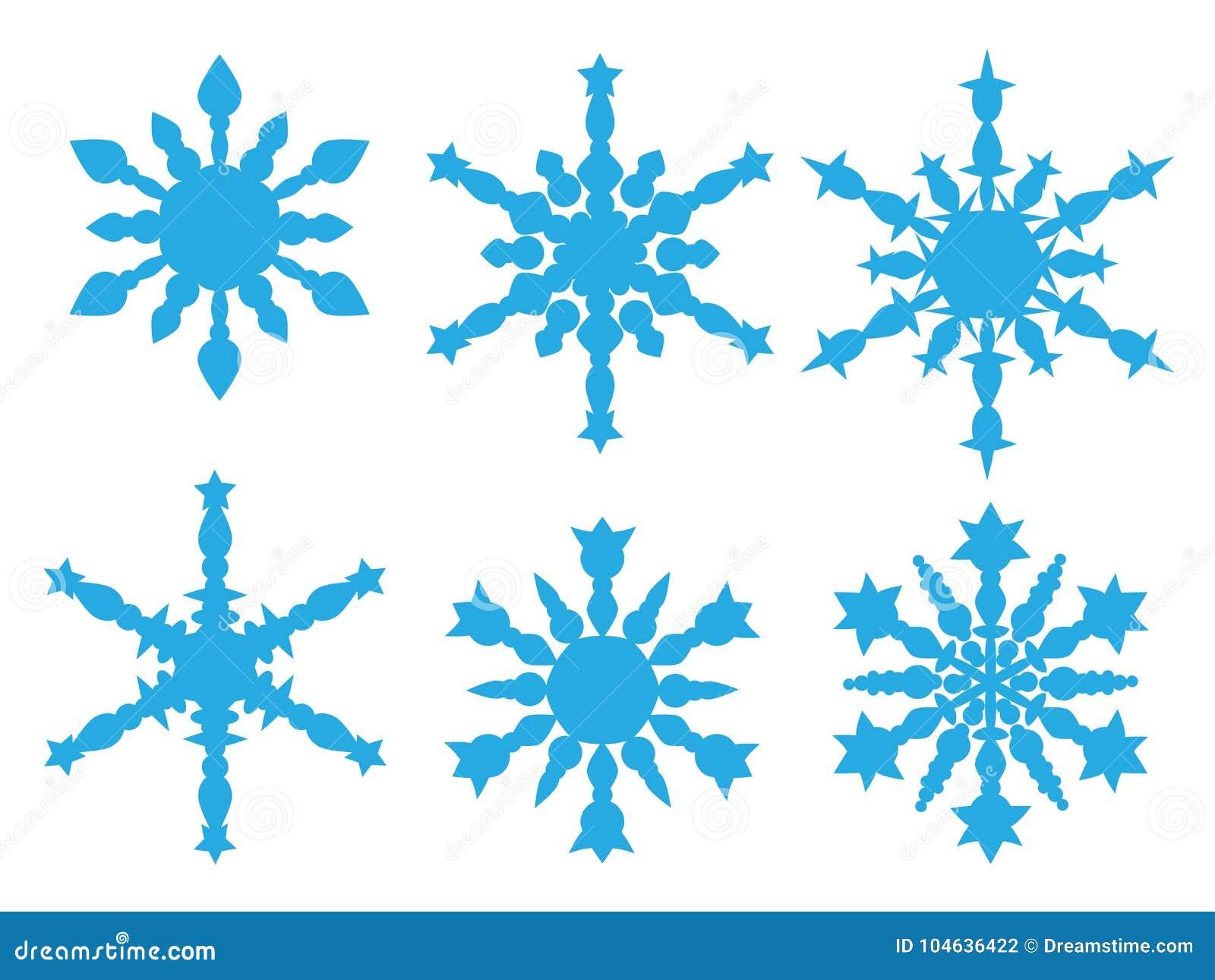 Download Het Pictograminzameling Van Sneeuwvlokken Vector Illustratie - Illustratie bestaande uit vakantie, sneeuw: 104636422