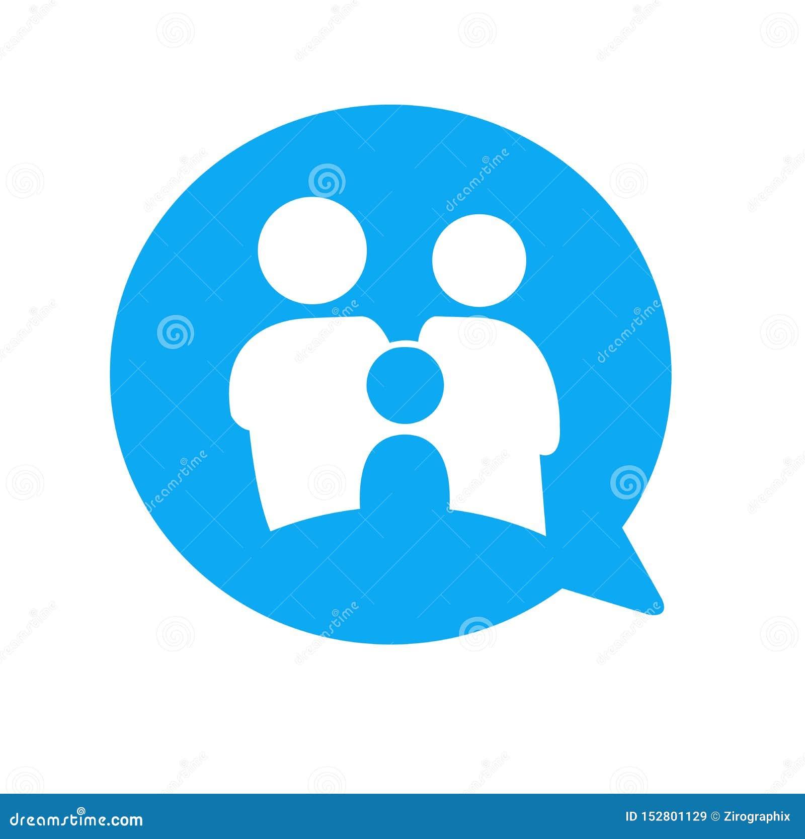 Het pictogrammededeling van het familiepraatje