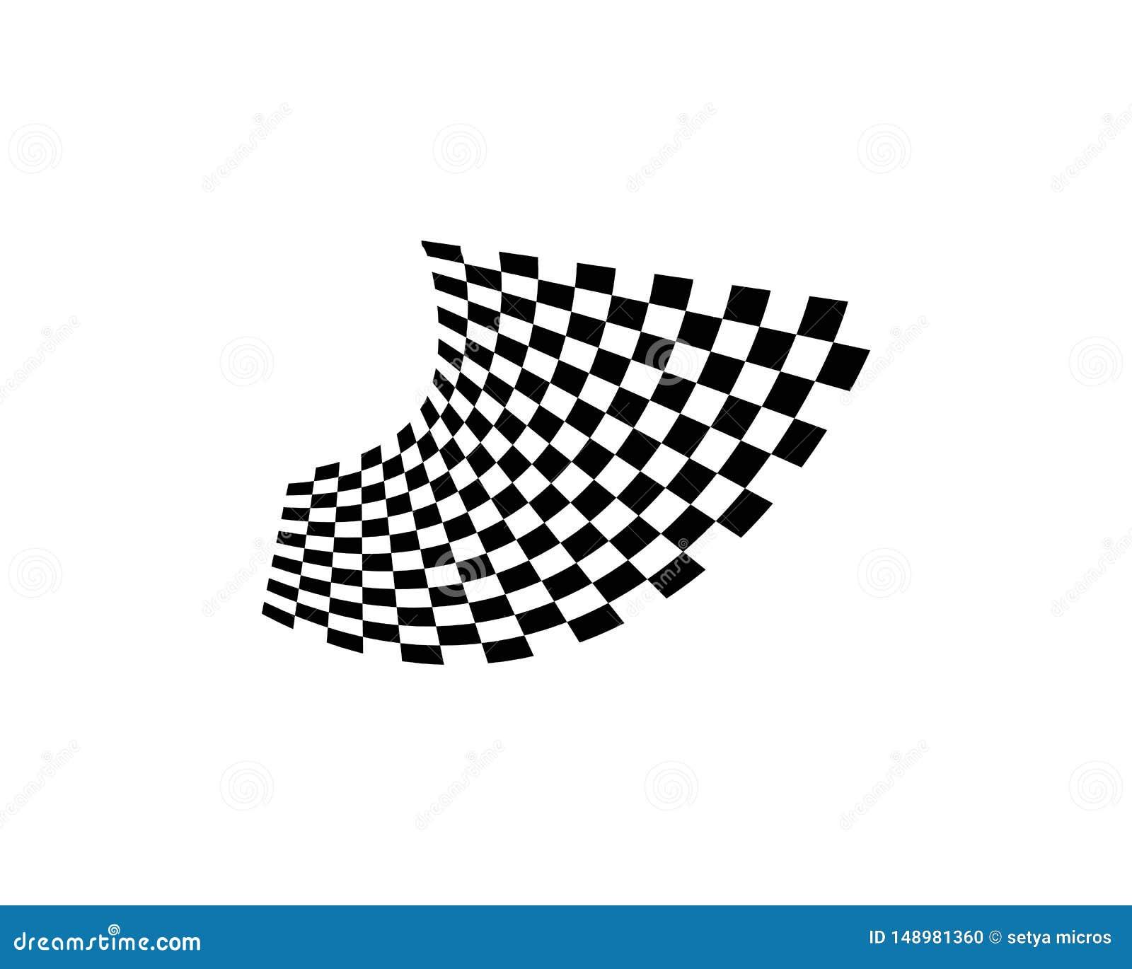 Het pictogramontwerp van de rasvlag
