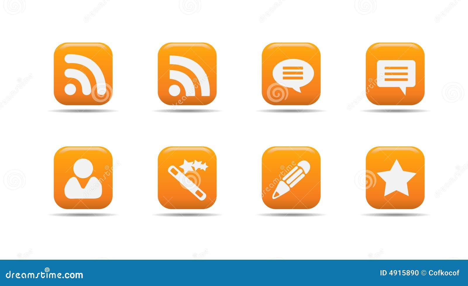 Het pictogramreeks 7 van het Web| De reeks van de abrikoos