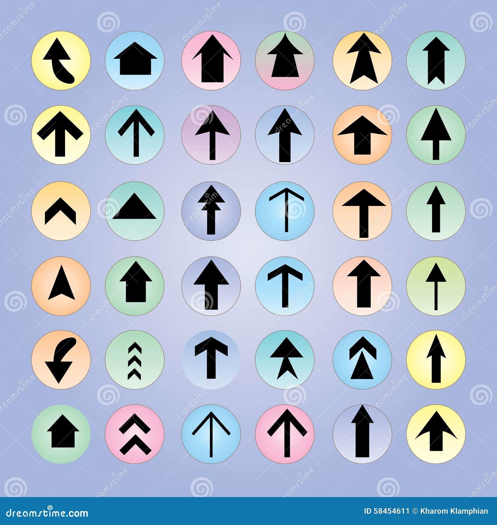 Het pictogramreeks van de pijl Het ontwerp van de pijl pijl