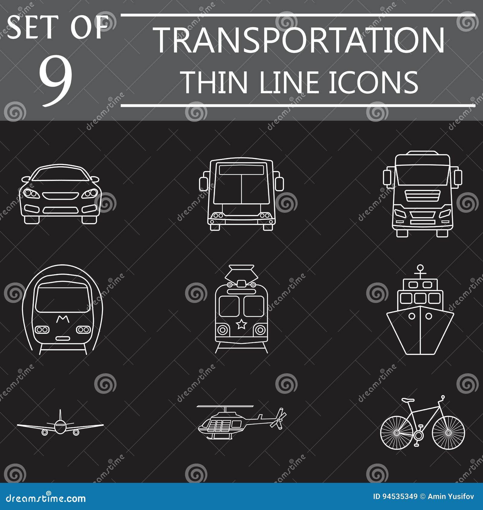 Het pictogramreeks van de vervoerlijn, openbaar vervoer