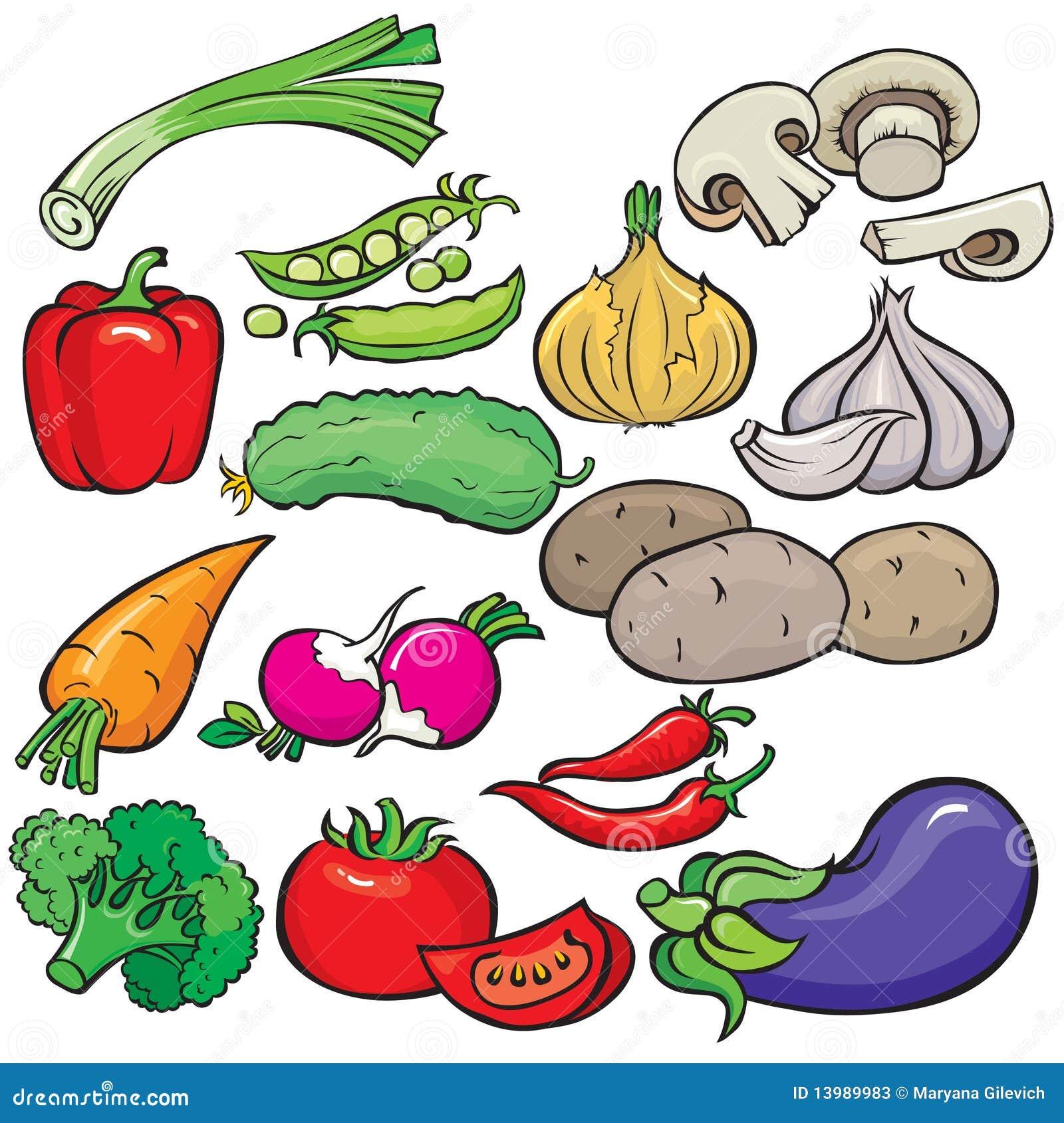 Het pictogramreeks van groenten