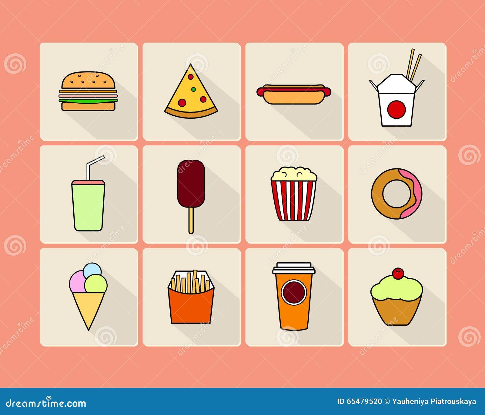 Het pictogramreeks van het voedsel