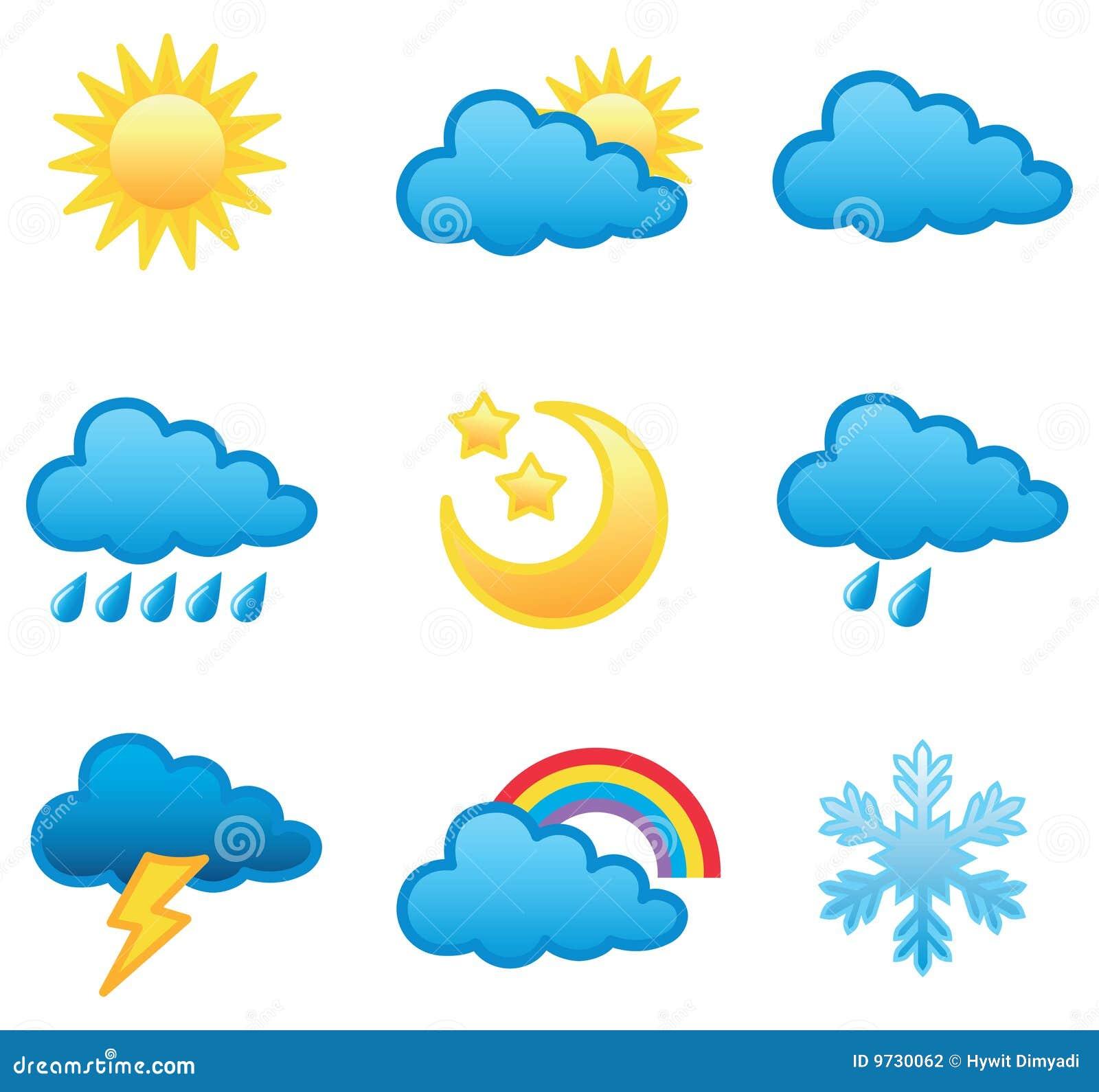 Het pictogramreeks van het weer