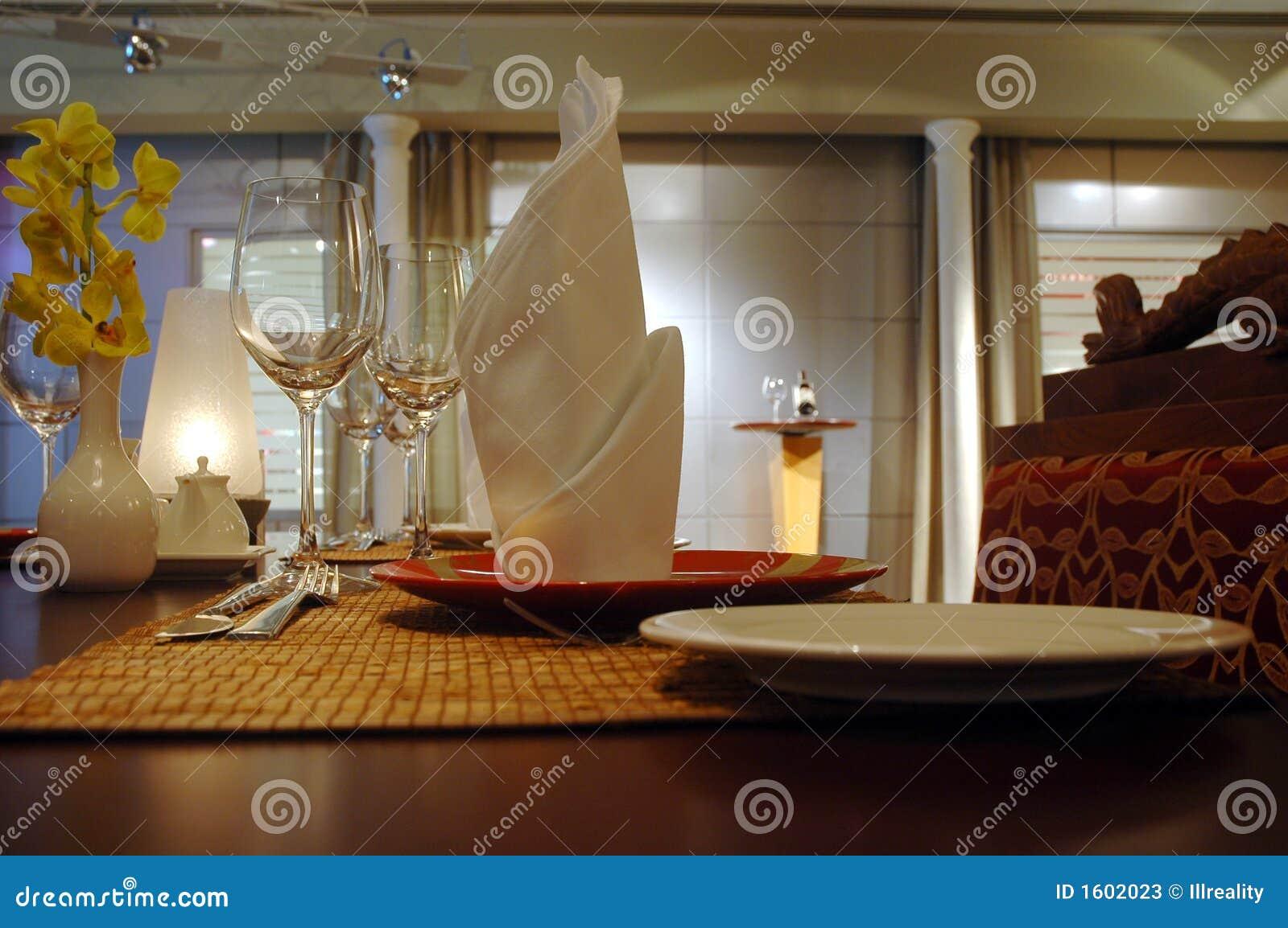 Het plaatsen van het restaurant