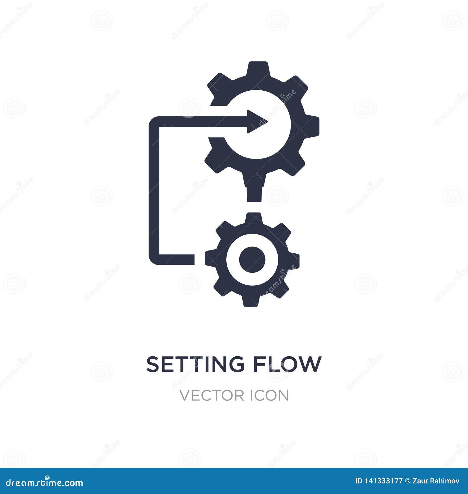 Het plaatsen van het pictogram van de stroominterface op witte achtergrond Eenvoudige elementenillustratie van Bedrijfs en analyt