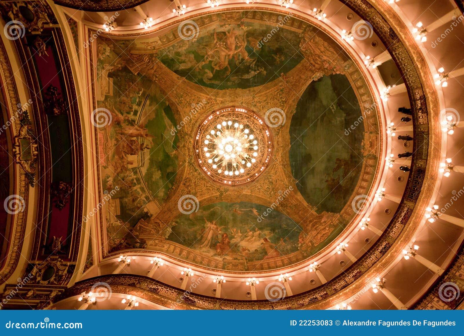 Het Plafond Manaus Brazilië van het Theater van Amazonië