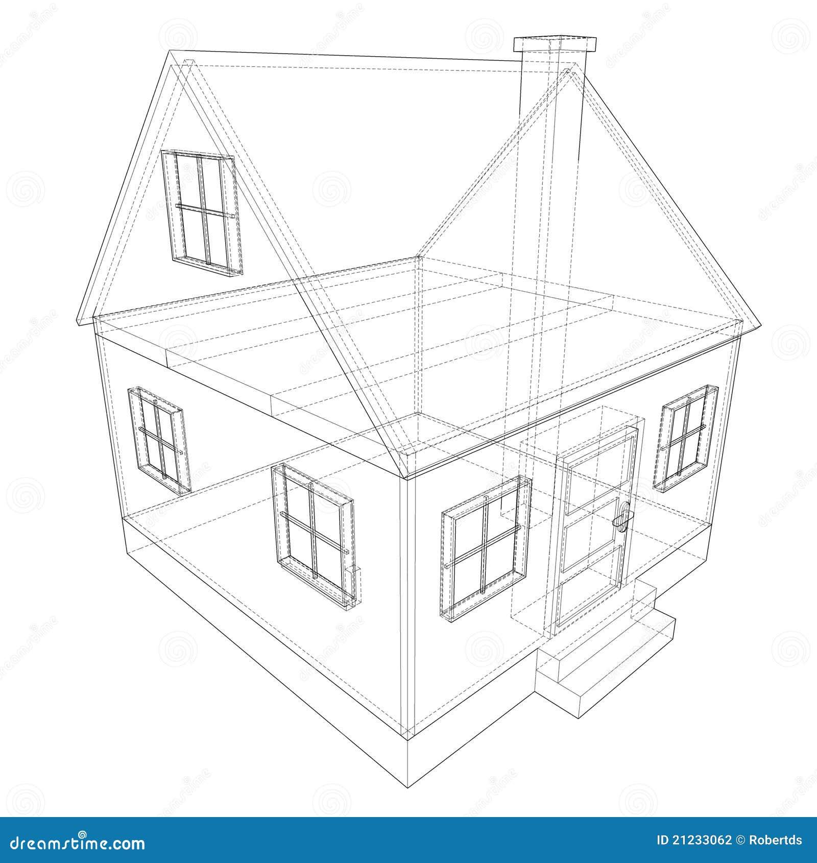 Het plan van het huis stock illustratie afbeelding for Huizen tekenen