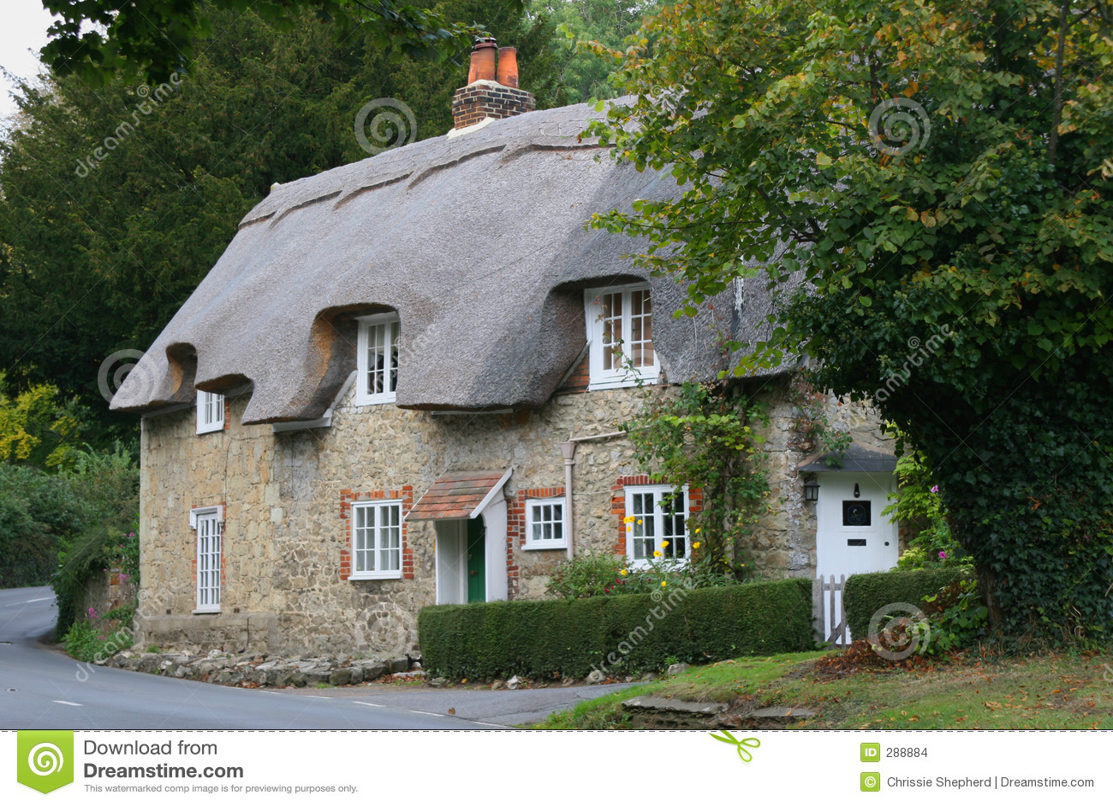 Het plattelandshuisje van het land