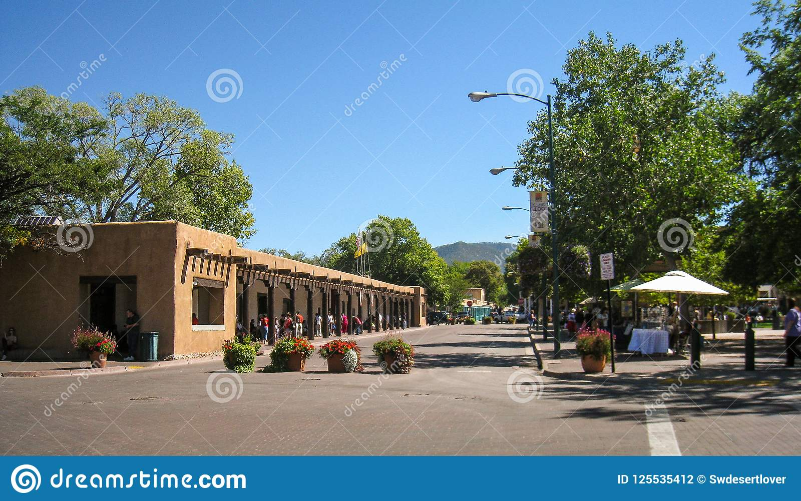 Het Plein in Santa Fe, New Mexico