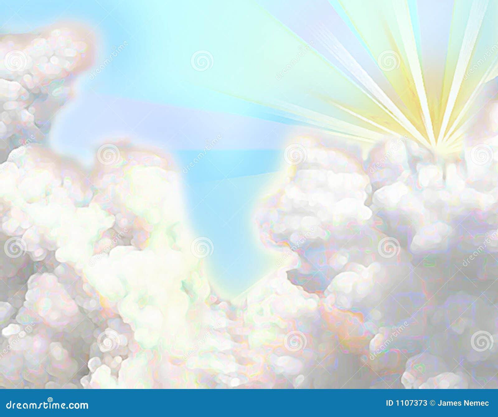 Het pluizige wolk schilderen