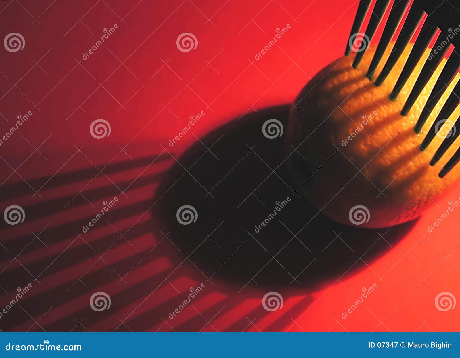 Het plukken citroen in rood