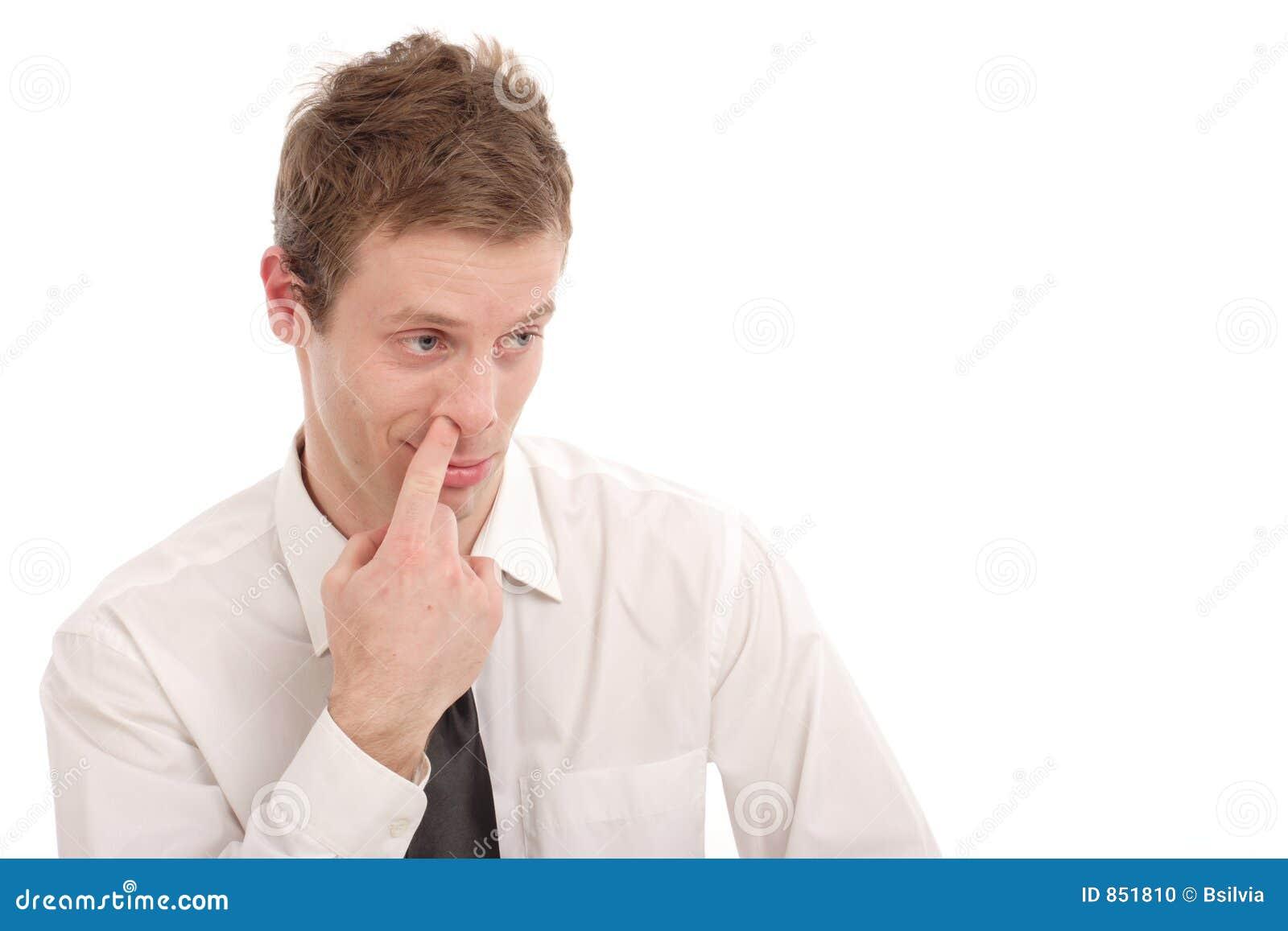 Het plukken van de neus