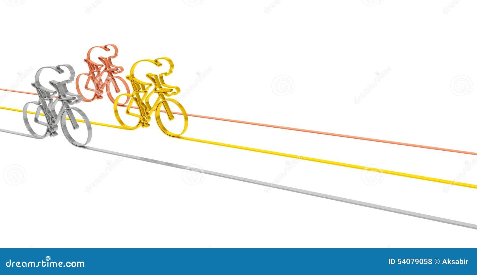 Het podium van het cyclusras